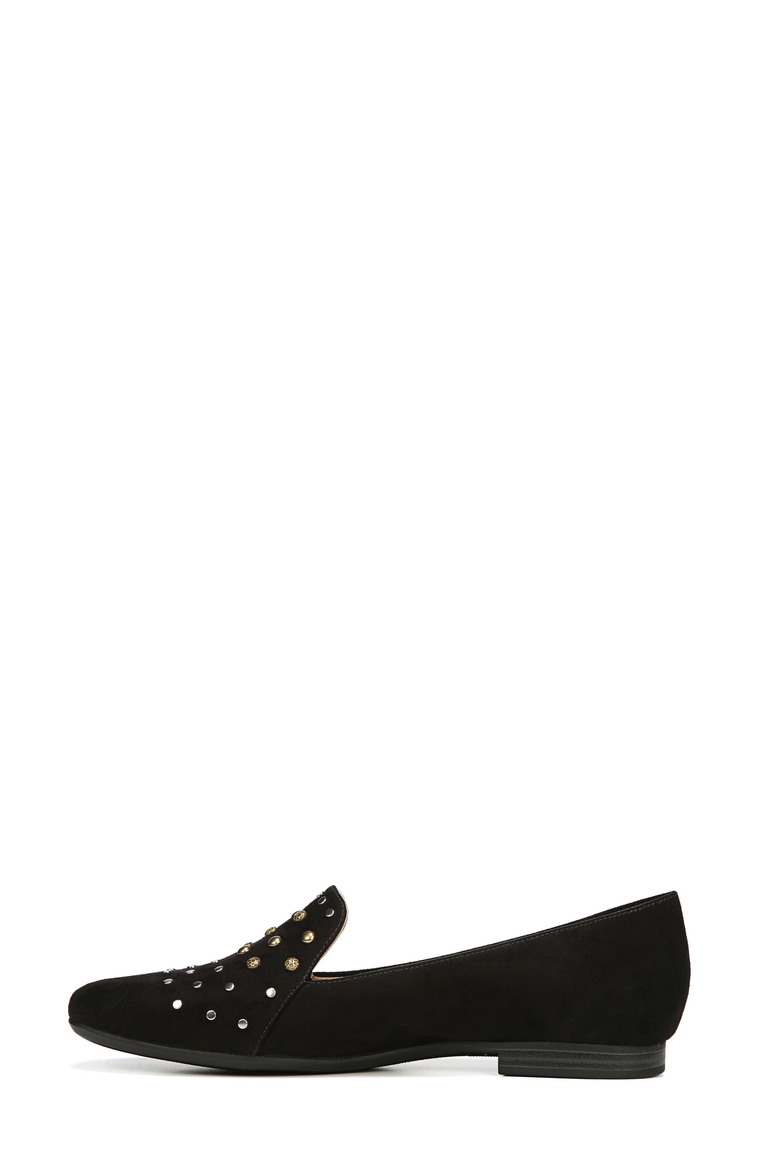 NATURALIZER, Emiline 4 Loafer, Alternate thumbnail 7, color, BLACK FABRIC