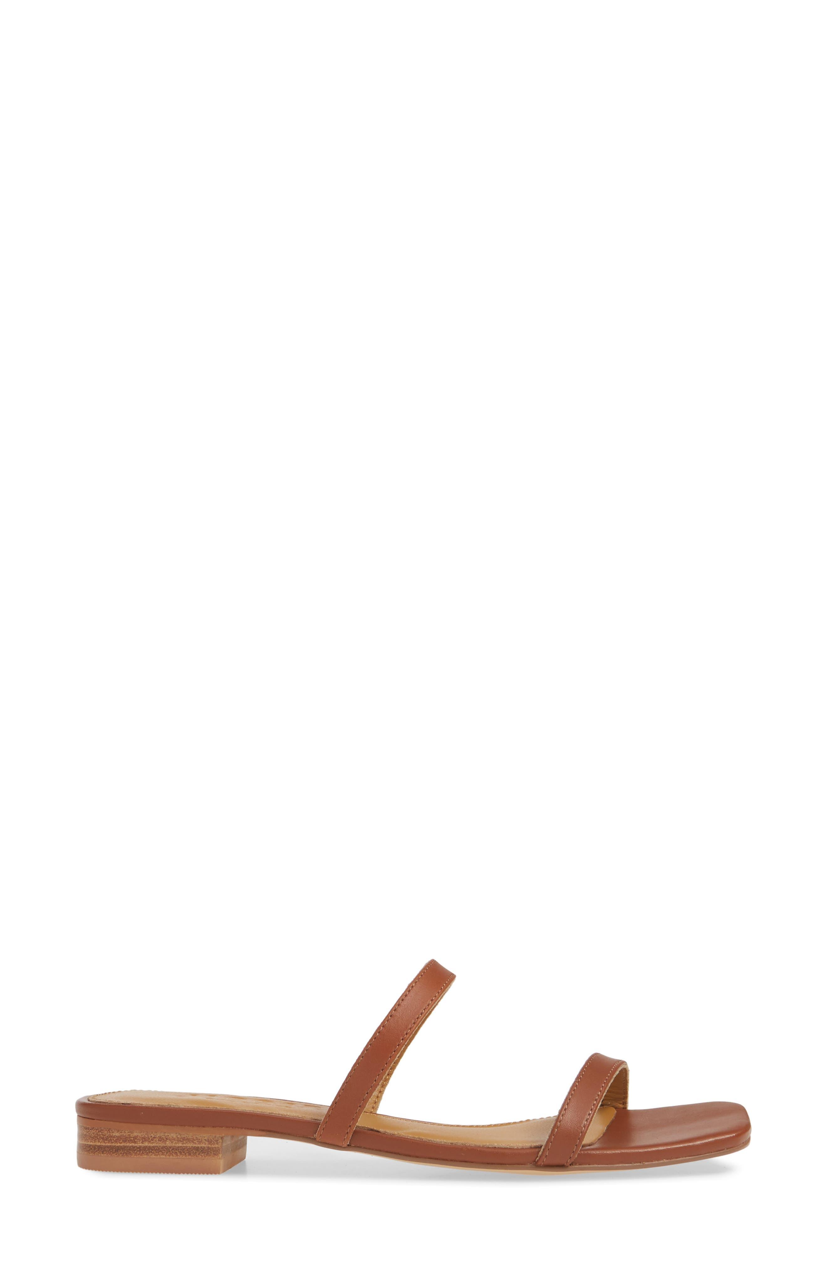 JAGGAR, Sprung Slide Sandal, Alternate thumbnail 3, color, RUST LEATHER