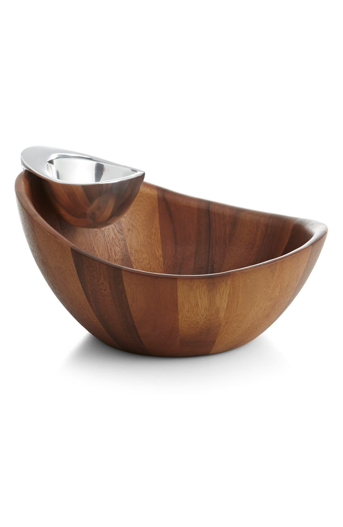 NAMBÉ, Harmony Chip & Dip Bowl, Alternate thumbnail 2, color, BROWN