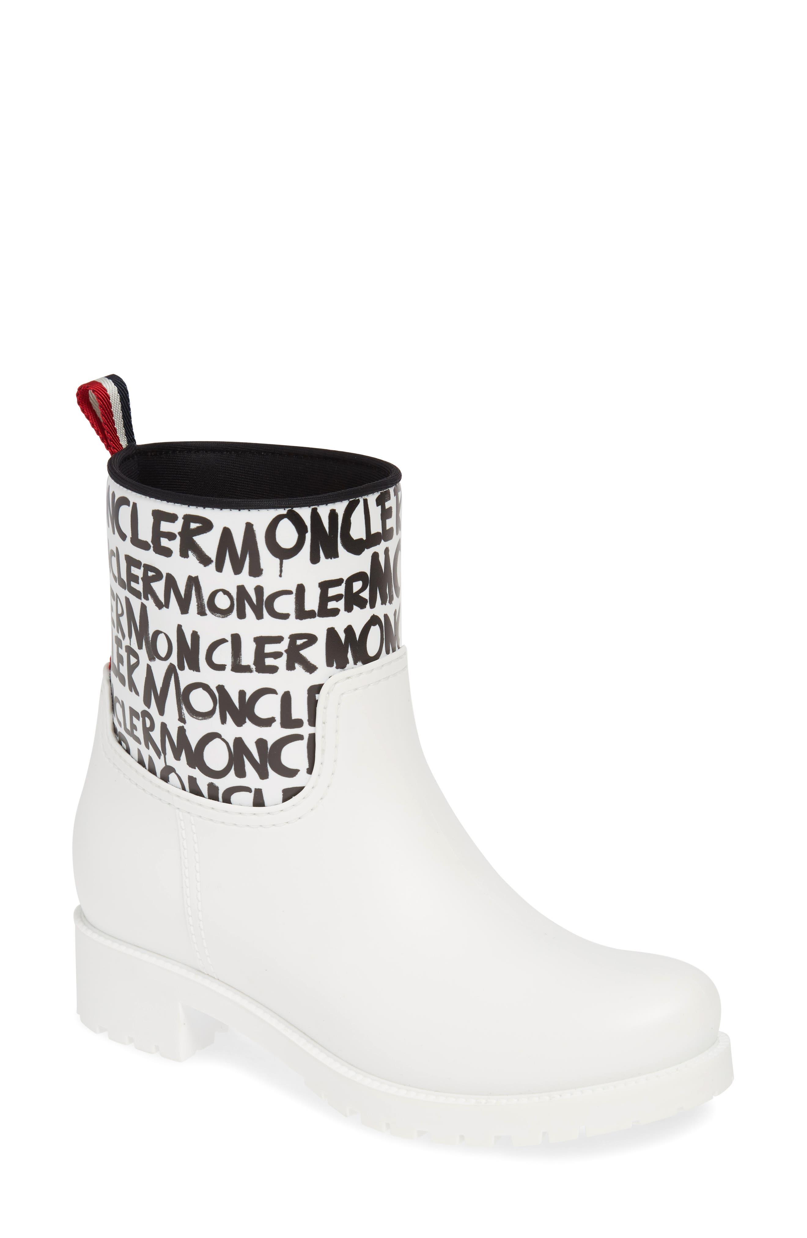 Moncler Ginette Stivale Logo Waterproof Rain Boot