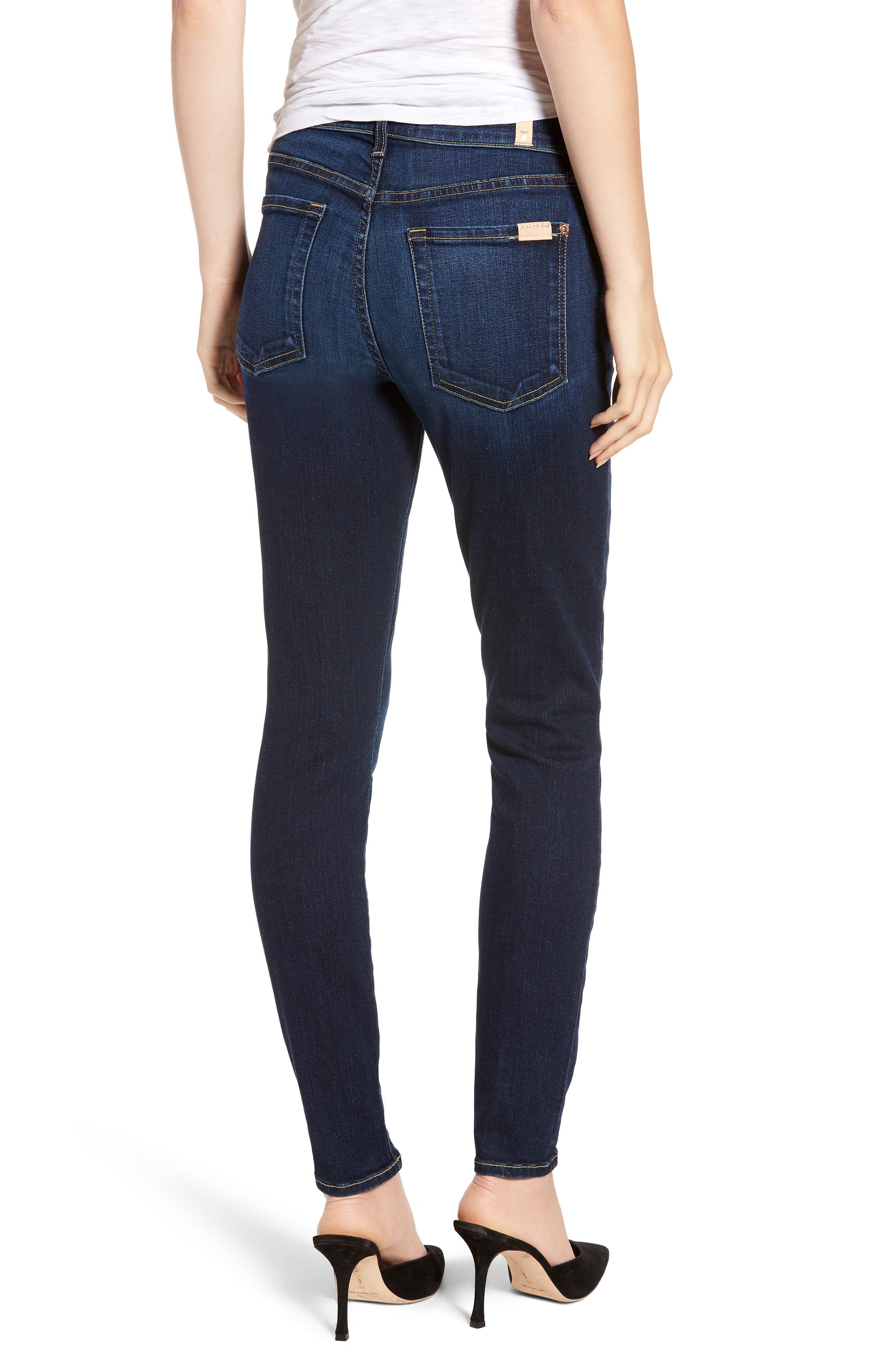 7 FOR ALL MANKIND<SUP>®</SUP>, Ankle Skinny Jeans, Alternate thumbnail 2, color, AUTHENTIC FATE