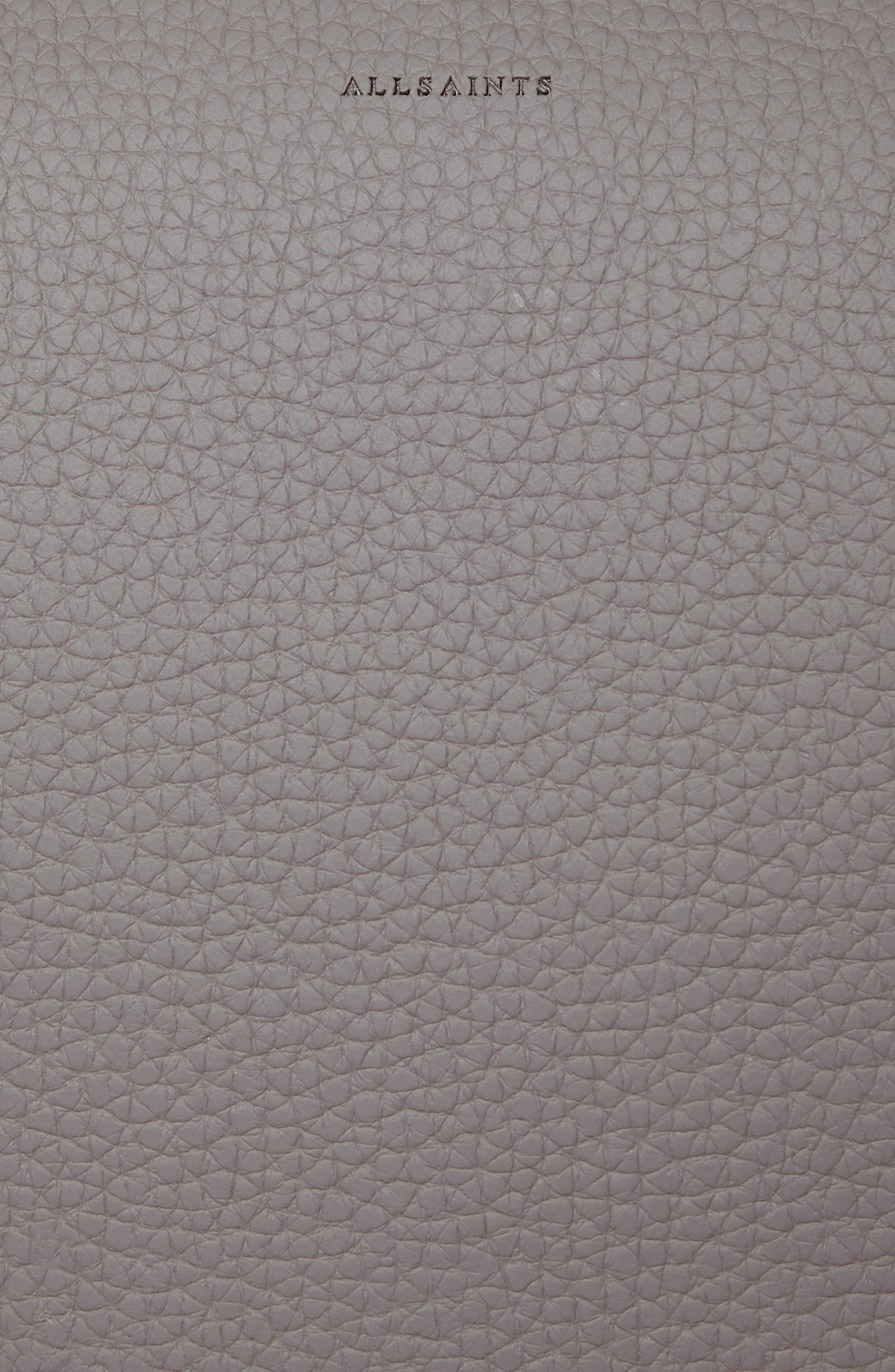 ALLSAINTS, 'Kita' Leather Shoulder/Crossbody Bag, Alternate thumbnail 7, color, STORM GREY