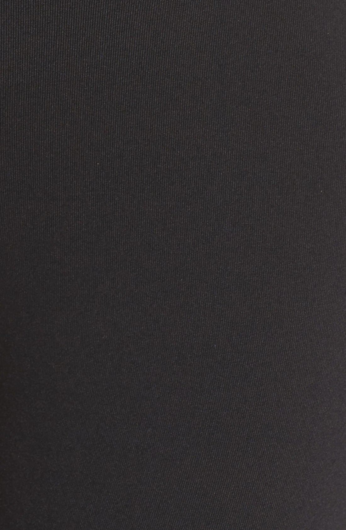 ALO, Airbrush High Waist Leggings, Alternate thumbnail 4, color, BLACK