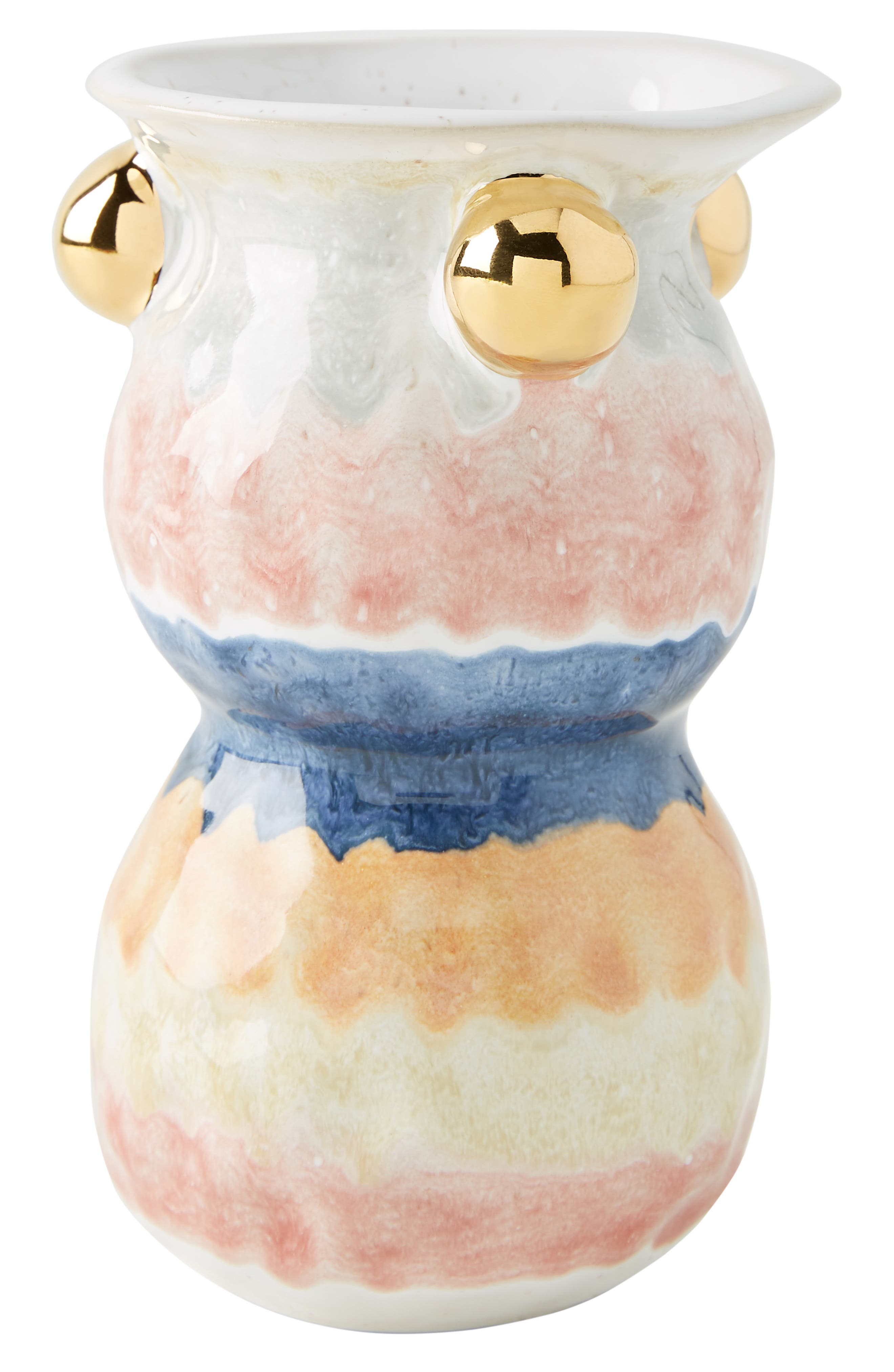 ANTHROPOLOGIE, Object Enthusiast Vase, Alternate thumbnail 4, color, MULTI-SMALL
