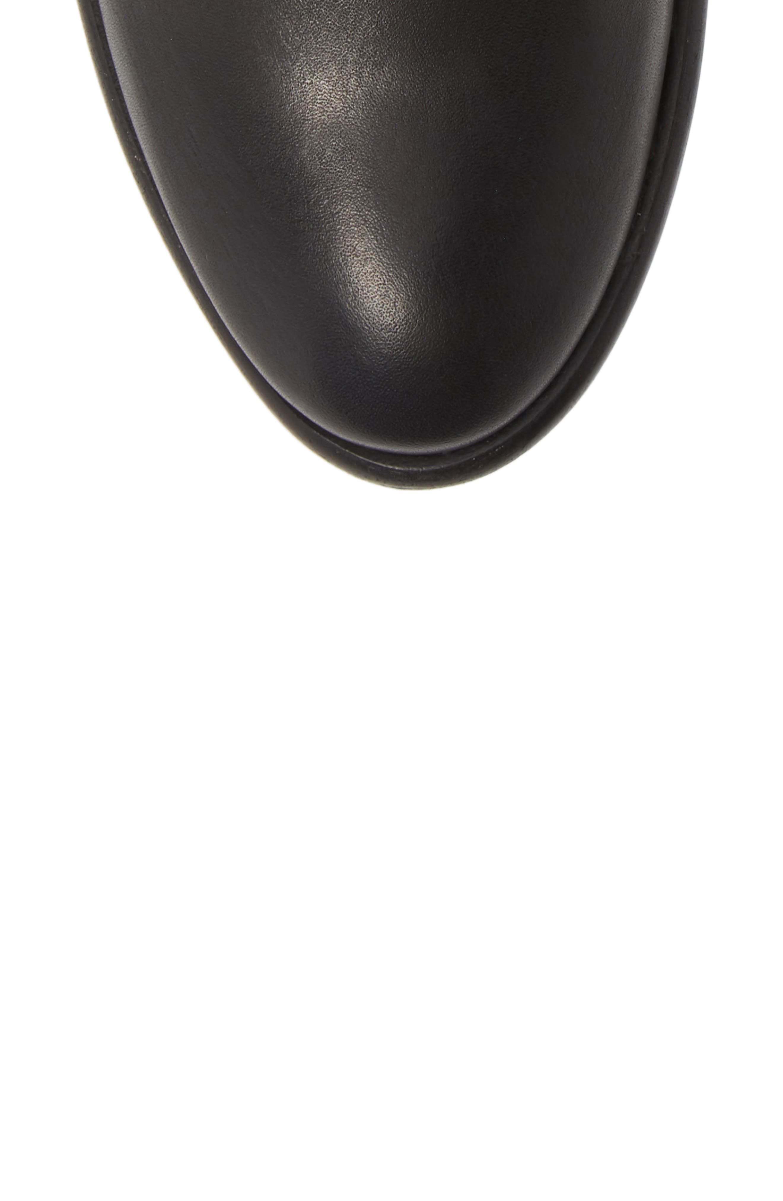 FRYE, Carson Piping Bootie, Alternate thumbnail 5, color, BLACK
