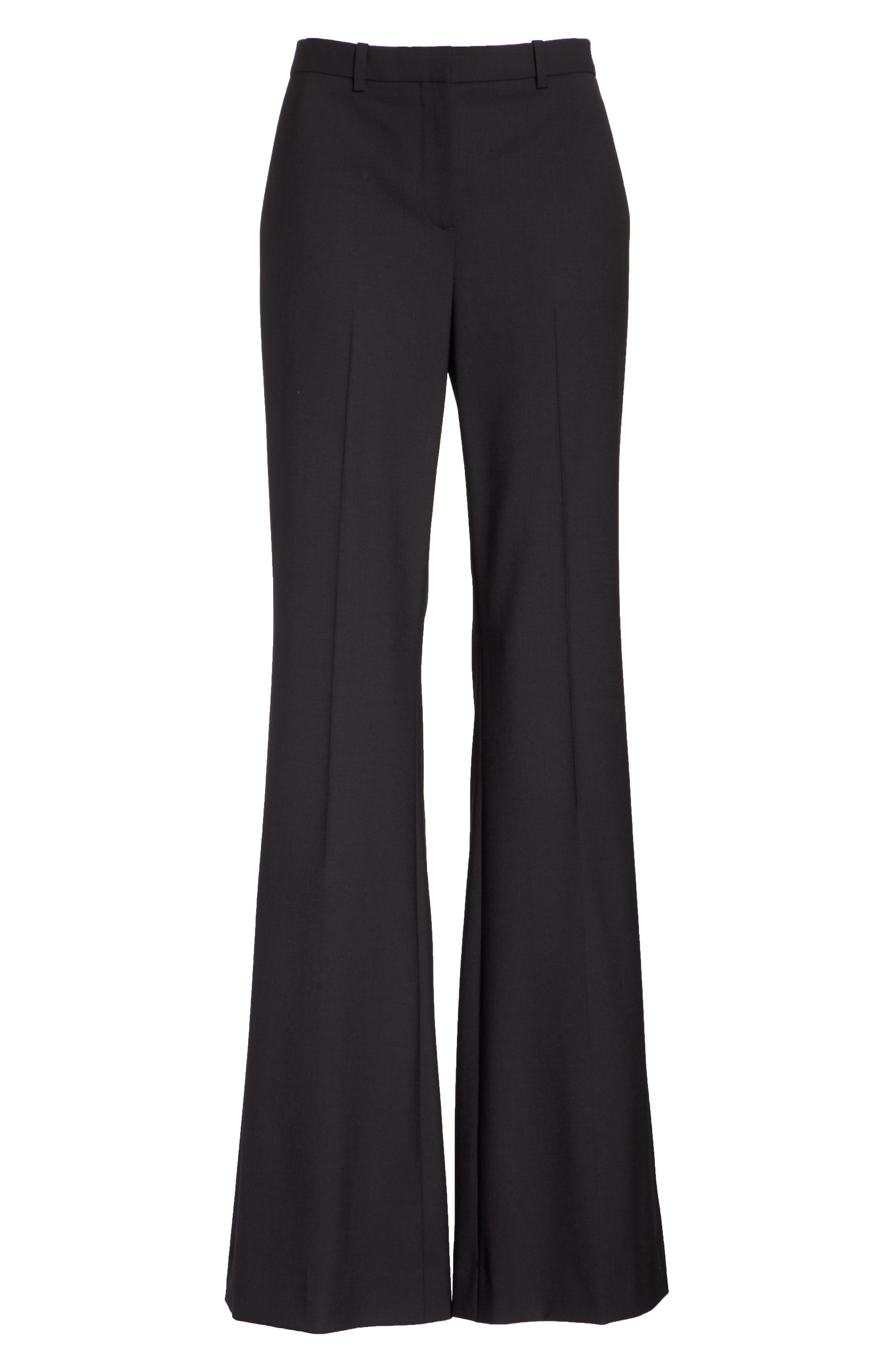 THEORY, Demitria 2 Stretch Wool Suit Pants, Alternate thumbnail 7, color, BLACK