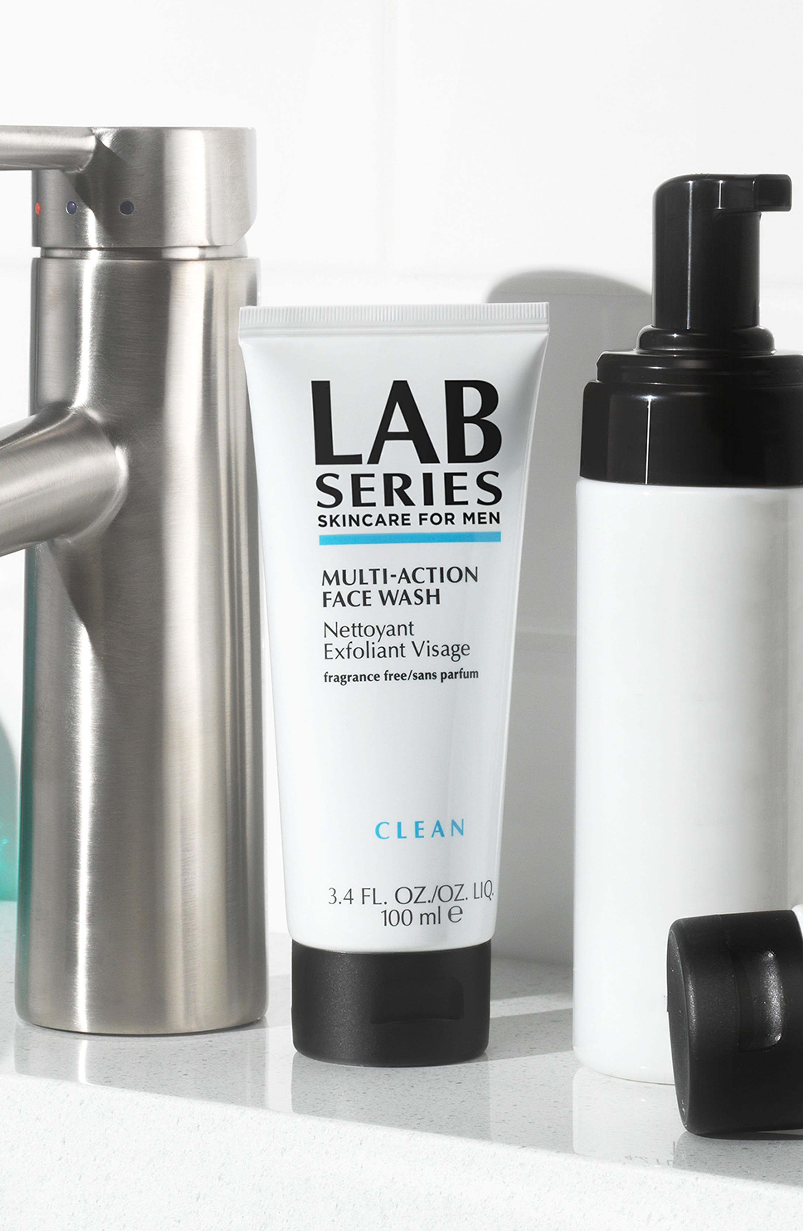 LAB SERIES SKINCARE FOR MEN, Multi-Action Face Wash, Alternate thumbnail 4, color, NO COLOR