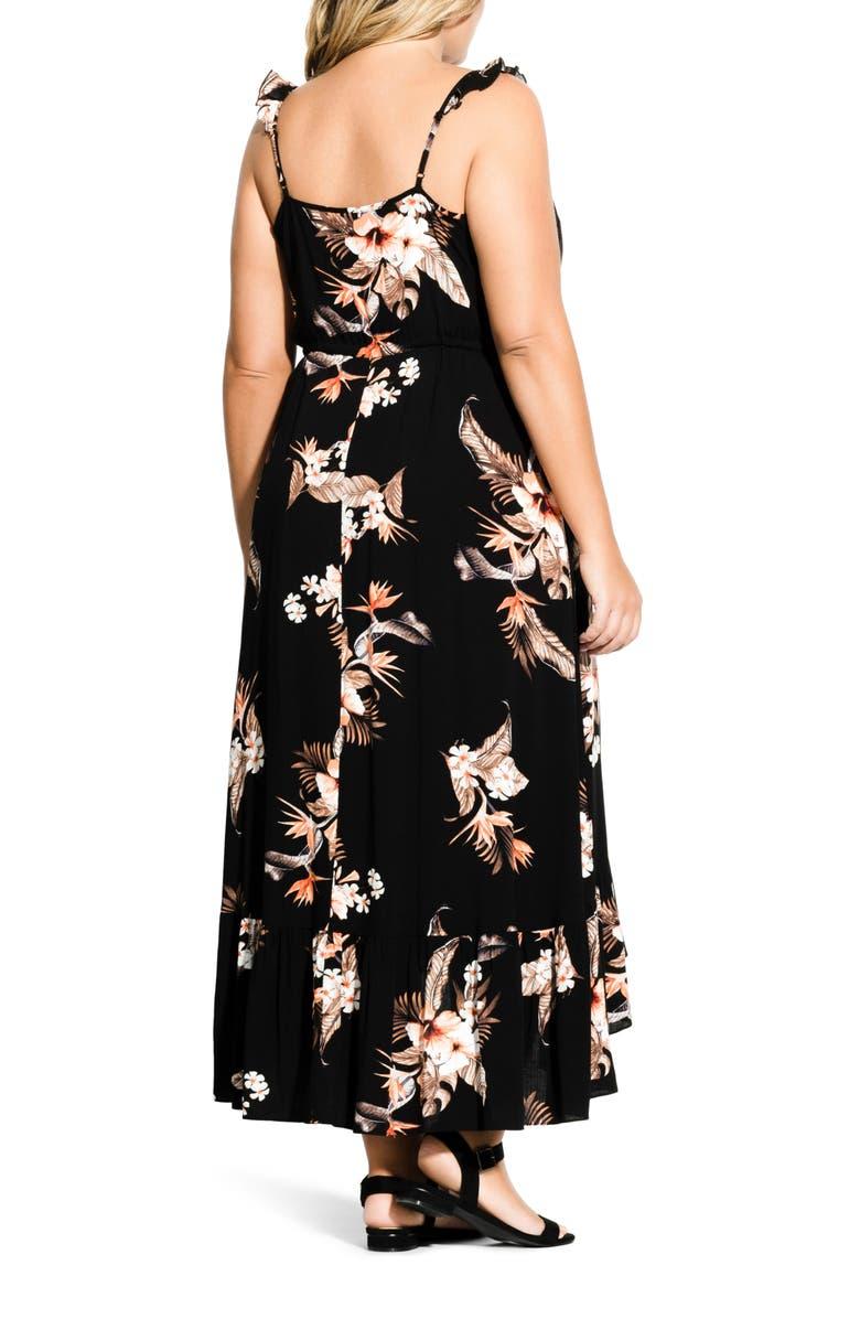 60209341c5 City Chic Trendy Plus Size Seville Maxi Dress In Black Print