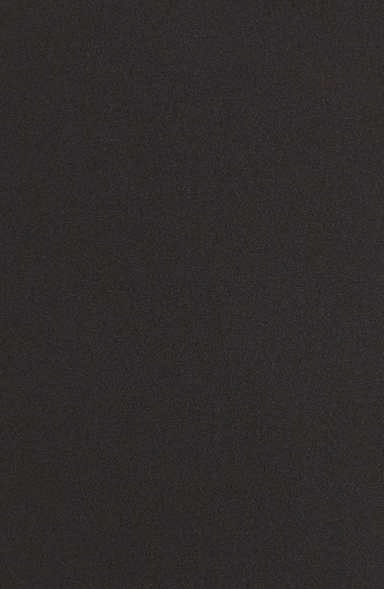 LULUS, Bead Neck Mermaid Gown, Alternate thumbnail 6, color, BLACK