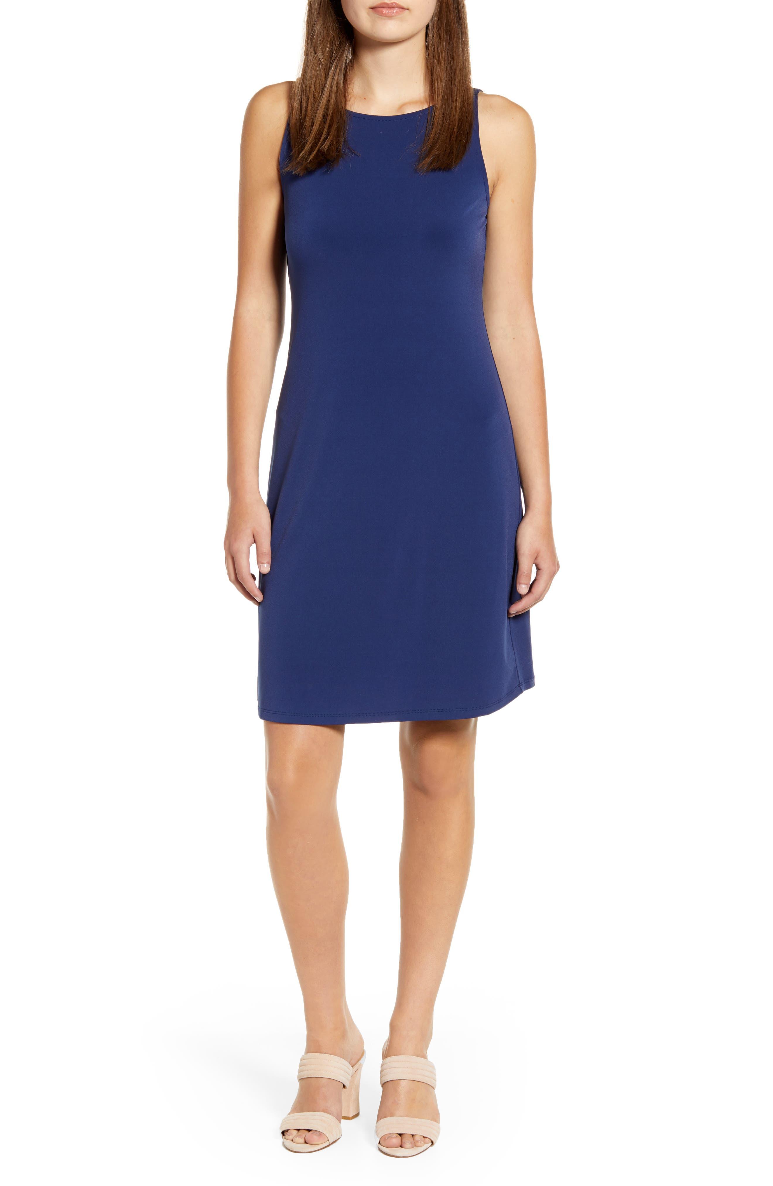 Tommy Bahama Matte Jersey Sleeveless Dress, Blue