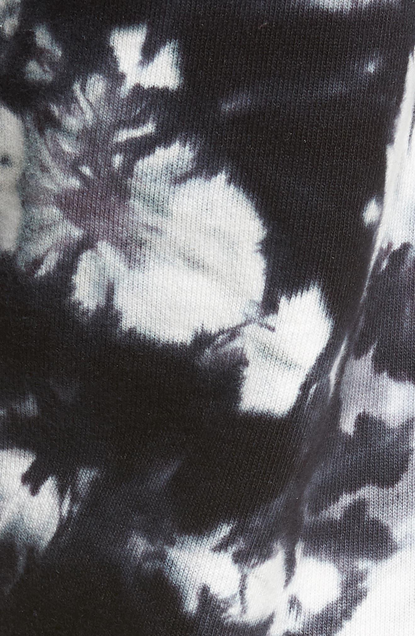 CHAMPION, Scrunch Dye Reverse Sweatpants, Alternate thumbnail 6, color, BLACK