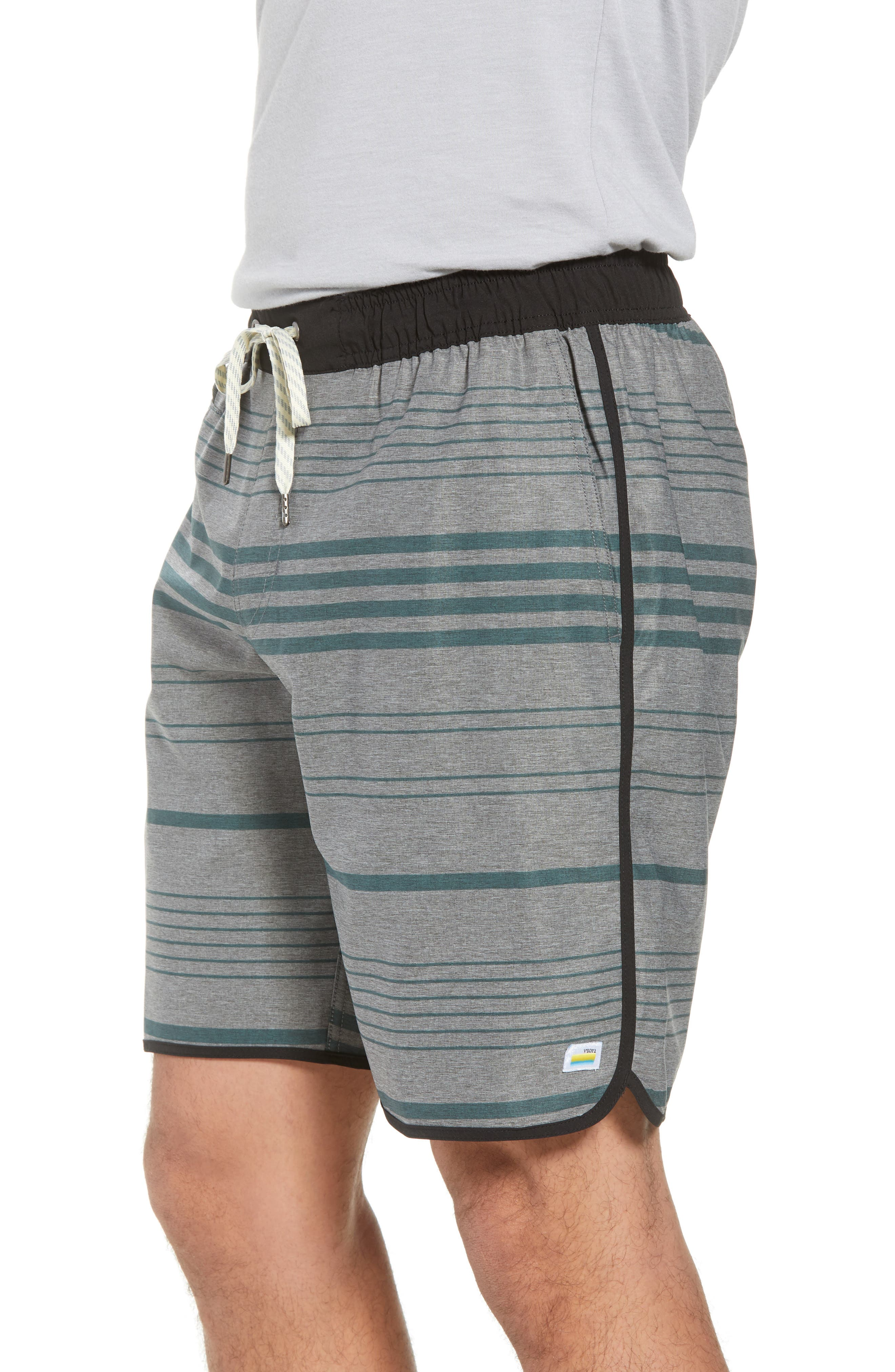 VUORI, Banks Performance Hybrid Shorts, Alternate thumbnail 4, color, CANYON MICRO STRIPE