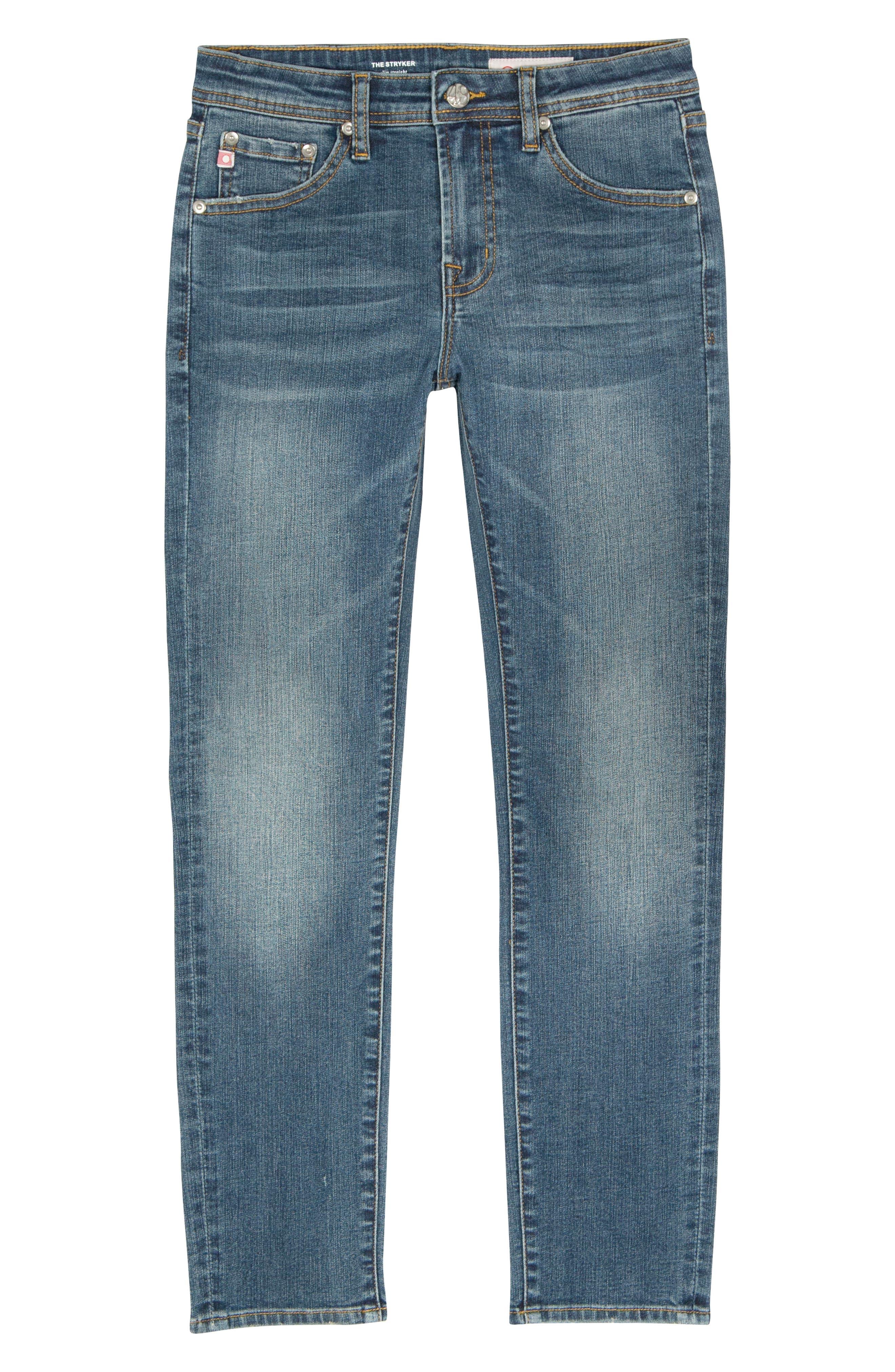 AG ADRIANO GOLDSCHMIED KIDS The Stryker Slim Straight Leg Jeans, Main, color, HIPPIE SKY