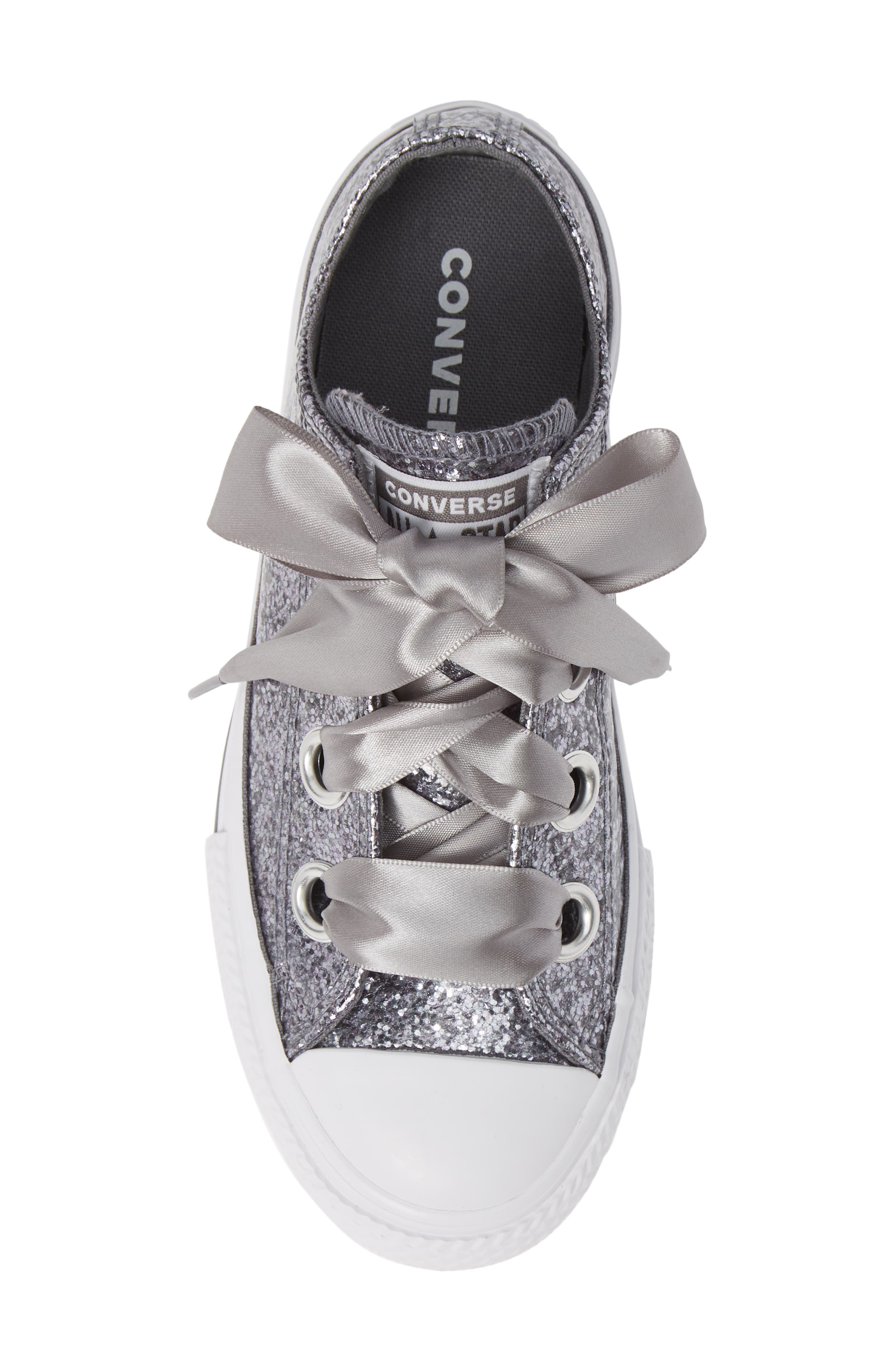 CONVERSE, Chuck Taylor<sup>®</sup> All Star<sup>®</sup> Glitter Big Eyelet Ox Sneaker, Alternate thumbnail 5, color, 020