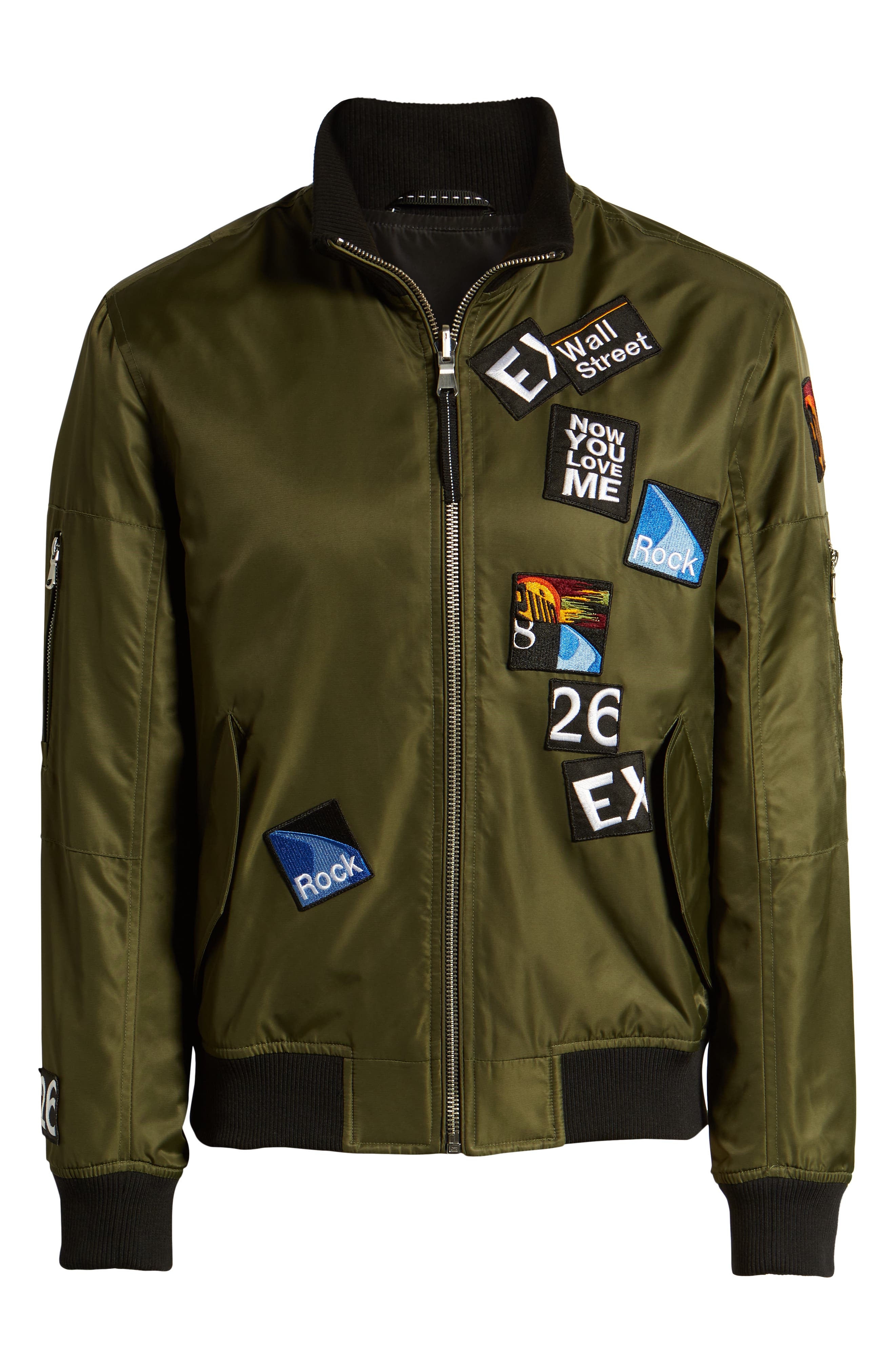 THE VERY WARM, Lucian Reversible Bomber Jacket, Alternate thumbnail 7, color, ARMY GREEN