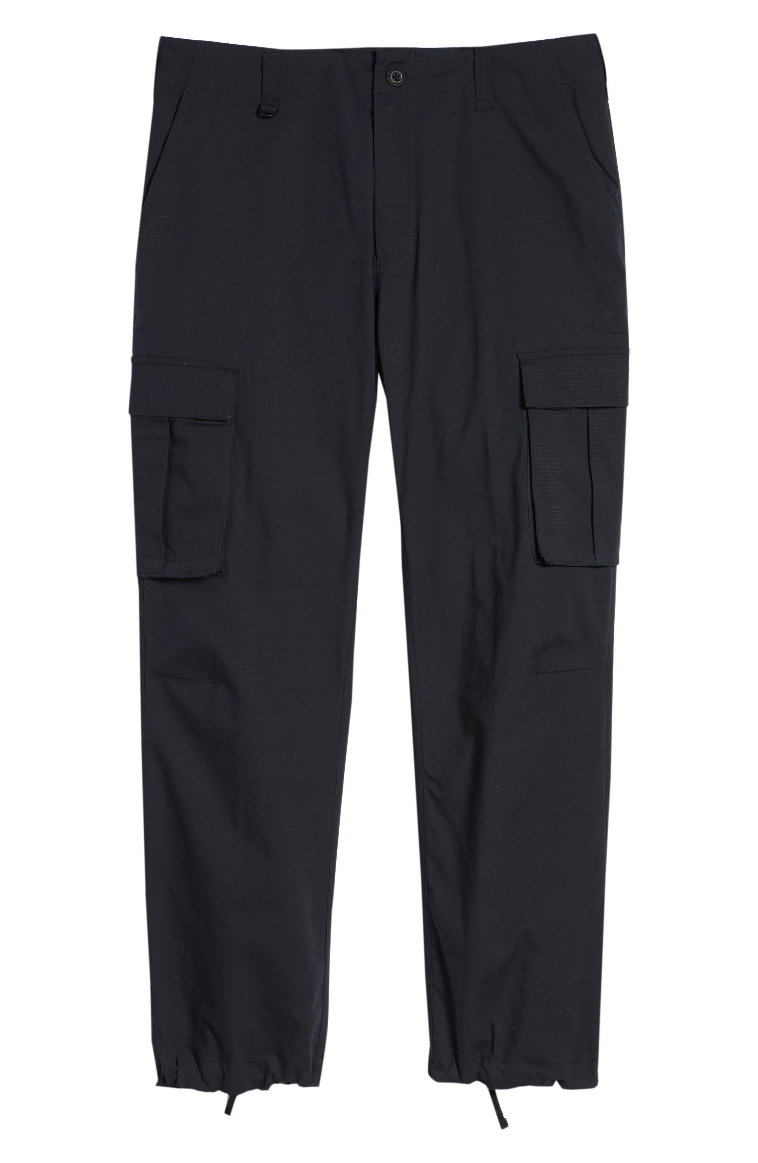 NIKE SB, Flex Cargo Pants, Alternate thumbnail 7, color, BLACK