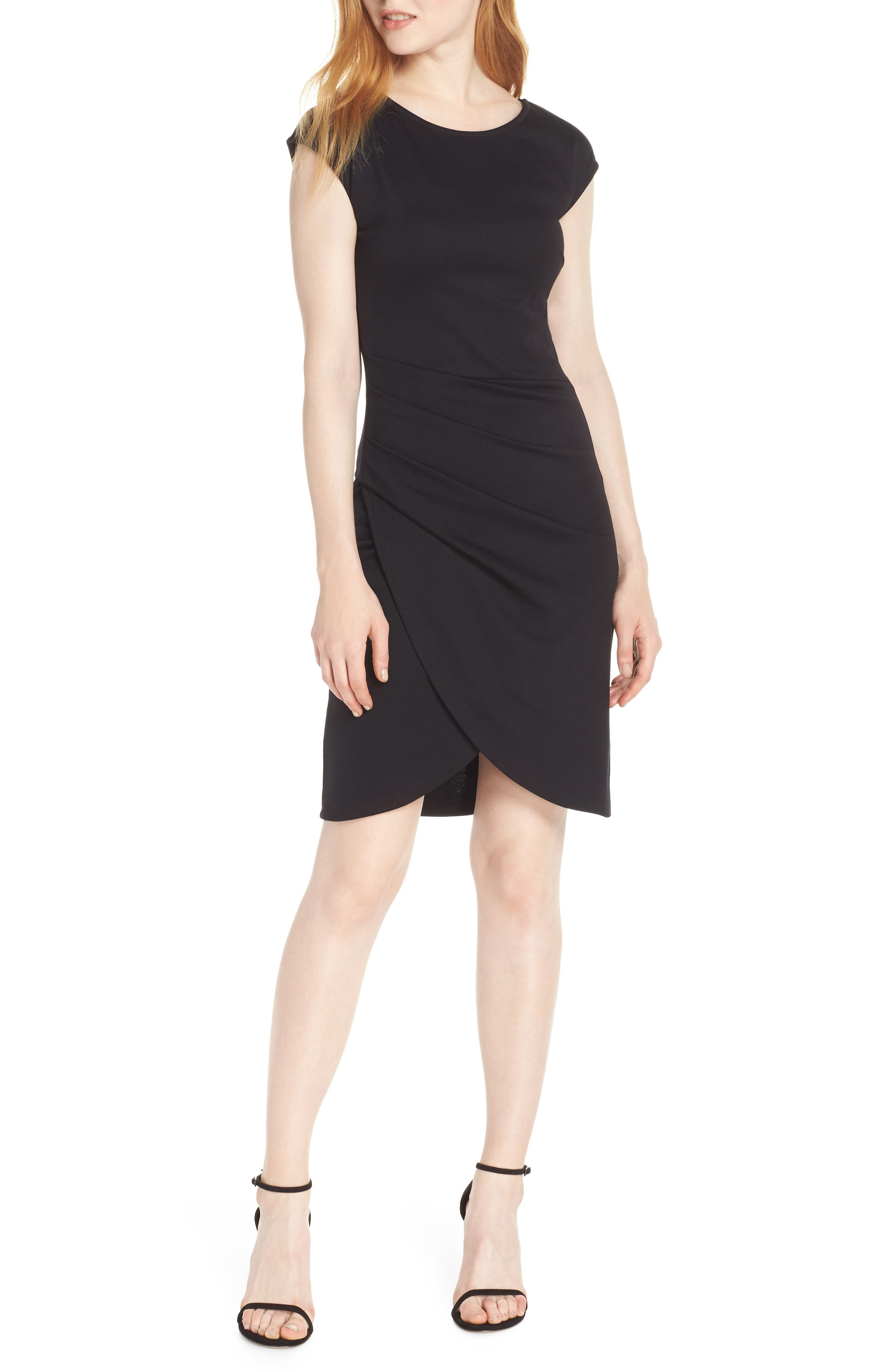 Fraiche By J Tulip Sheath Dress, Black