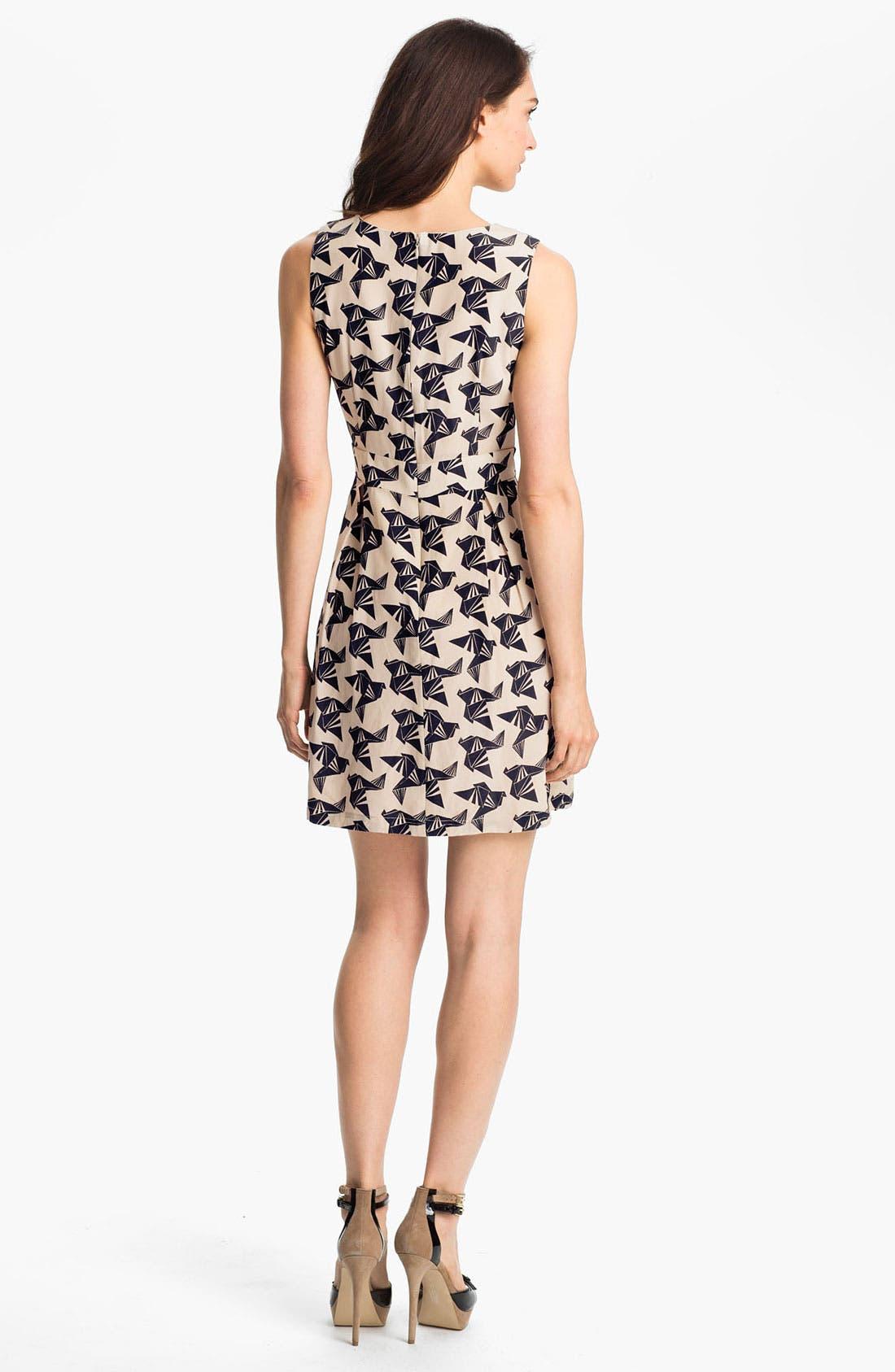 ELIZA J, Print Fit & Flare Dress, Alternate thumbnail 3, color, 011