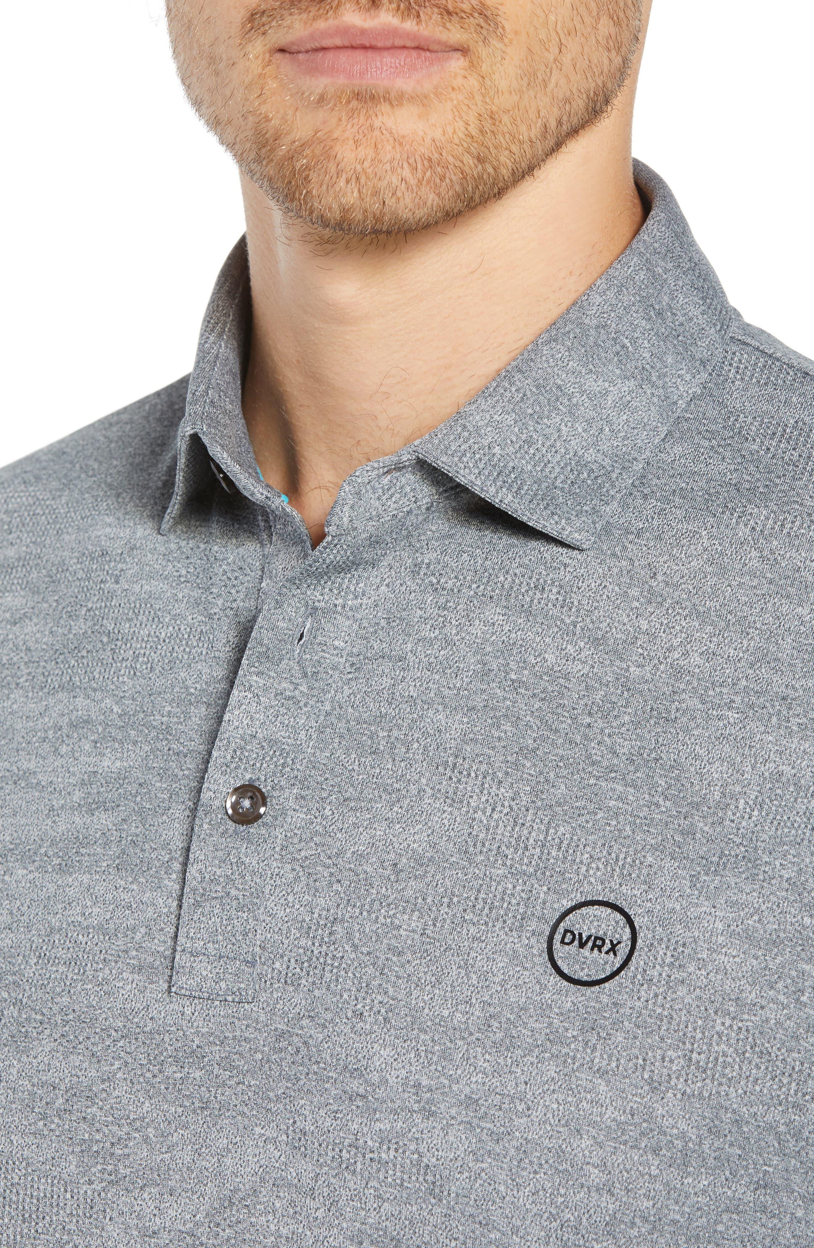 DEVEREUX, Monaco Regular Fit Polo, Alternate thumbnail 4, color, STEEL