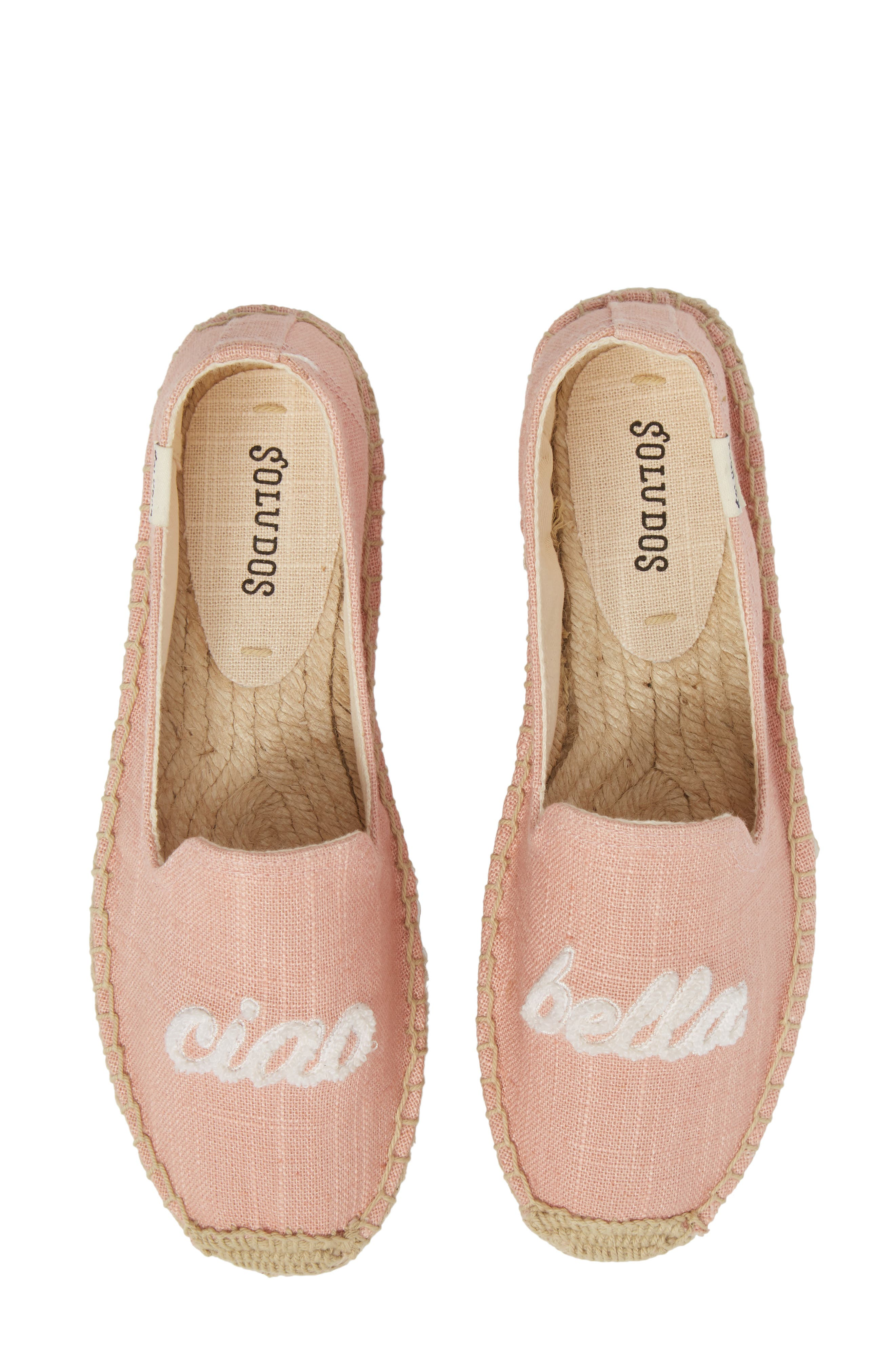 SOLUDOS, Ciao Bella Espadrille Flat, Main thumbnail 1, color, DUSTY ROSE FABRIC