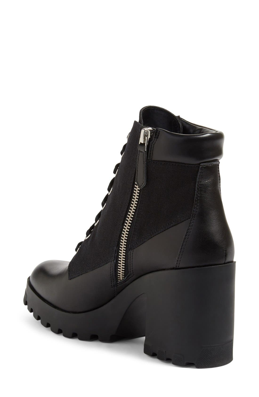 BP., Madison Lace-Up Boot, Alternate thumbnail 2, color, 001