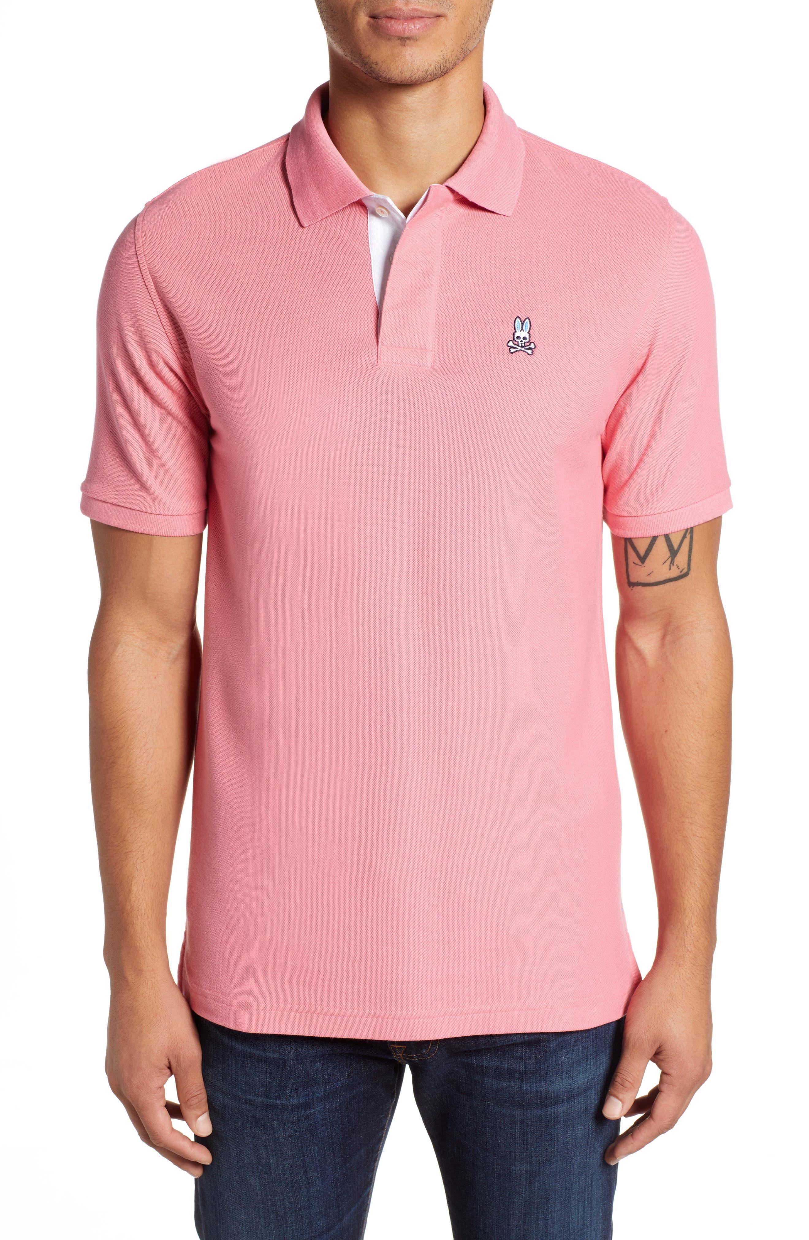 PSYCHO BUNNY Classic Polo Shirt, Main, color, 498