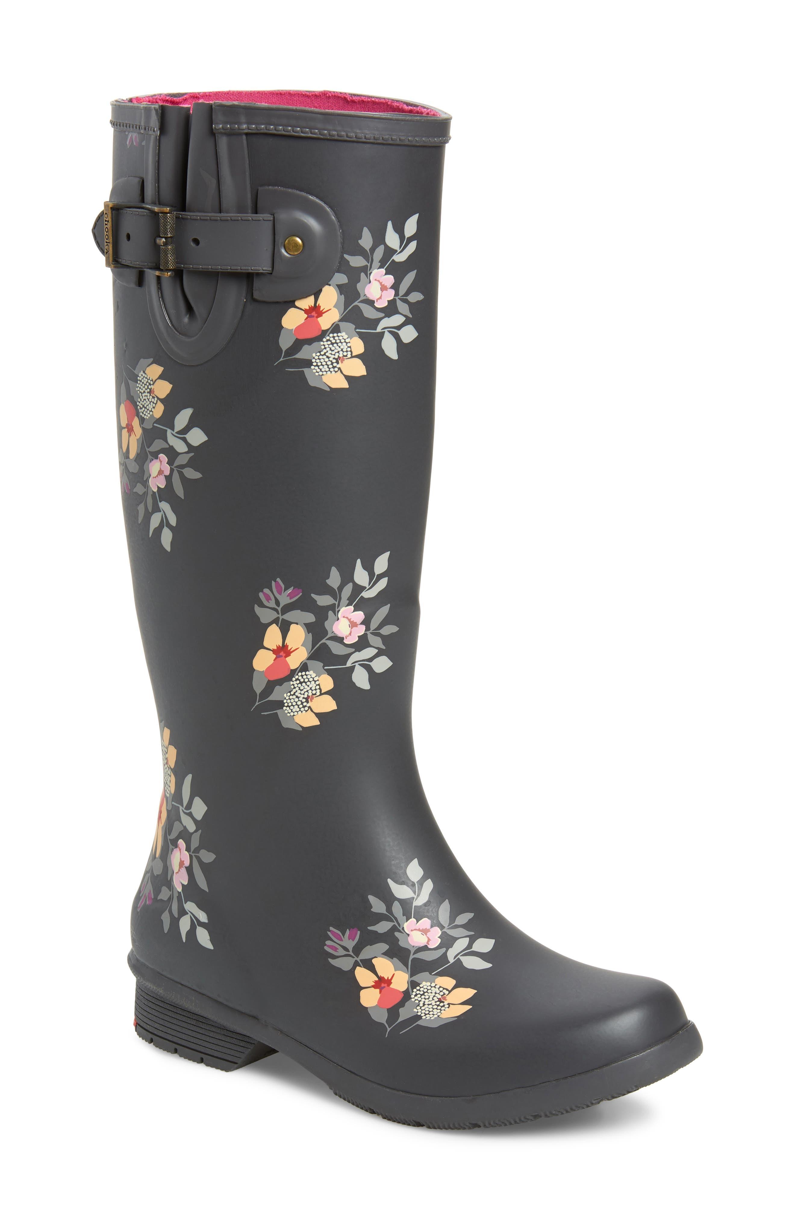 Chooka Bailey Tall Waterproof Rain Boot, Grey