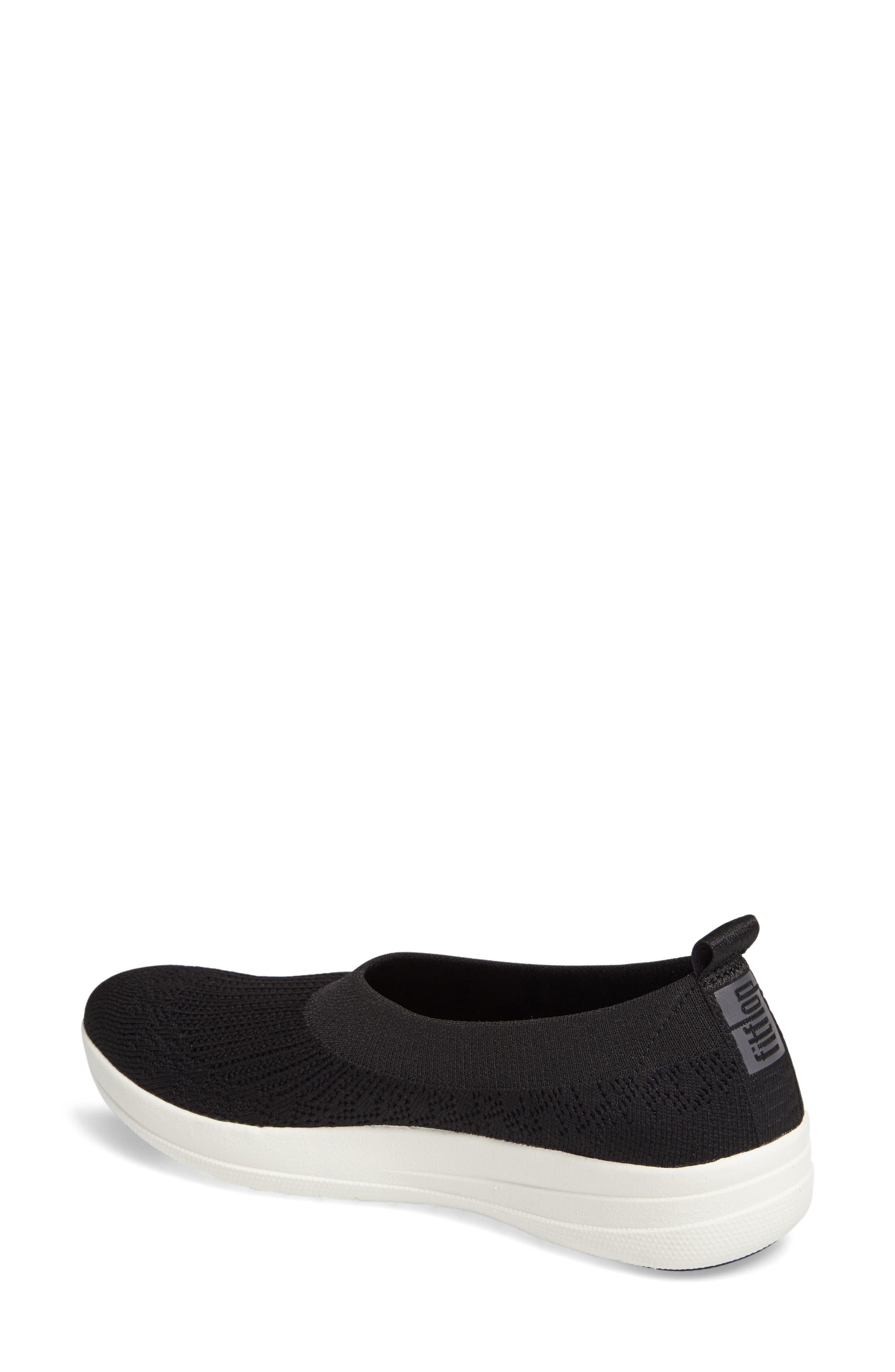 FITFLOP, Uberknit Slip-On Sneaker, Alternate thumbnail 2, color, BLACK FABRIC