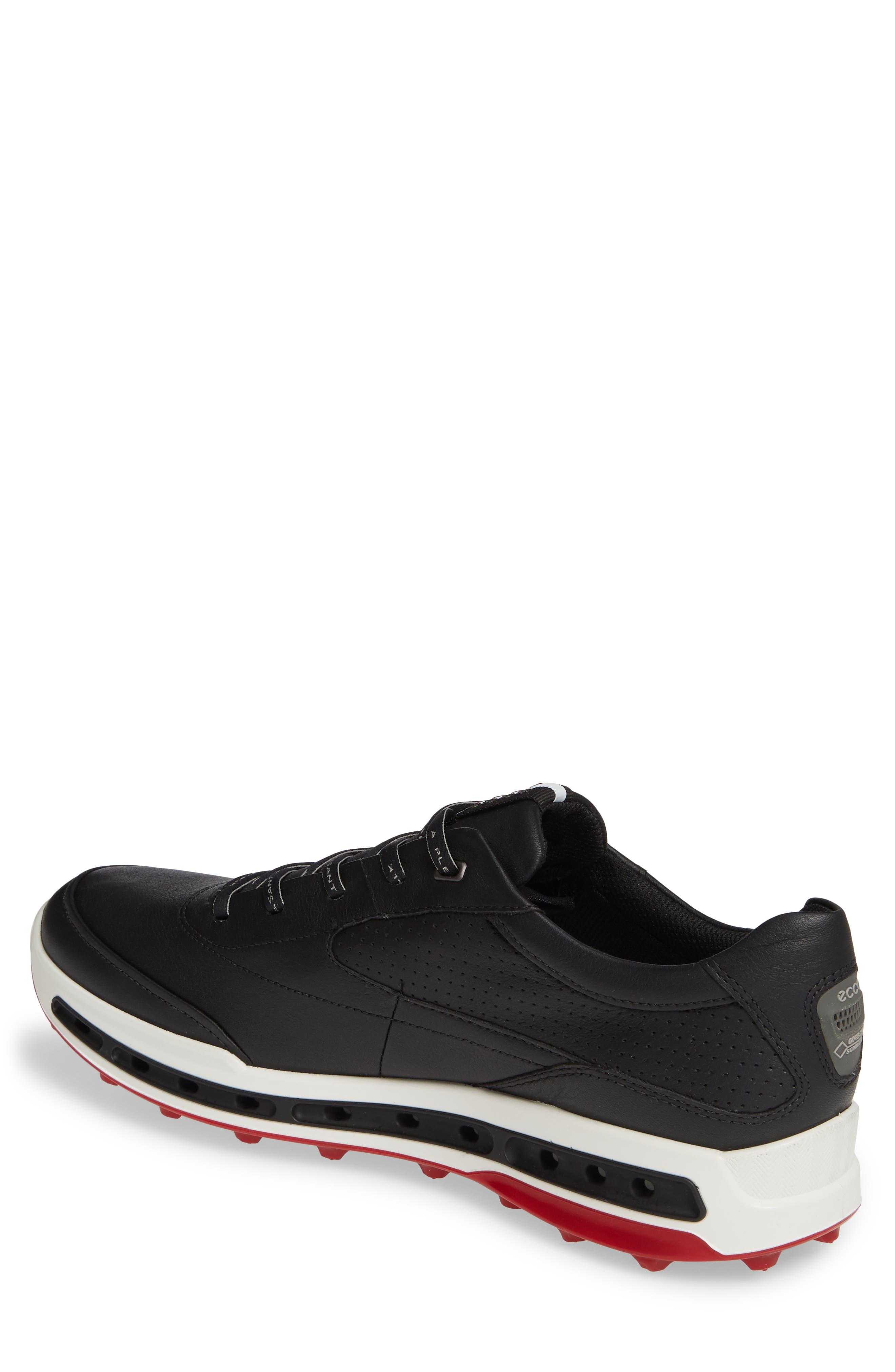 ECCO, Cool Pro Gore-Tex<sup>®</sup> Golf Shoe, Alternate thumbnail 2, color, BLACK/ BRICK LEATHER