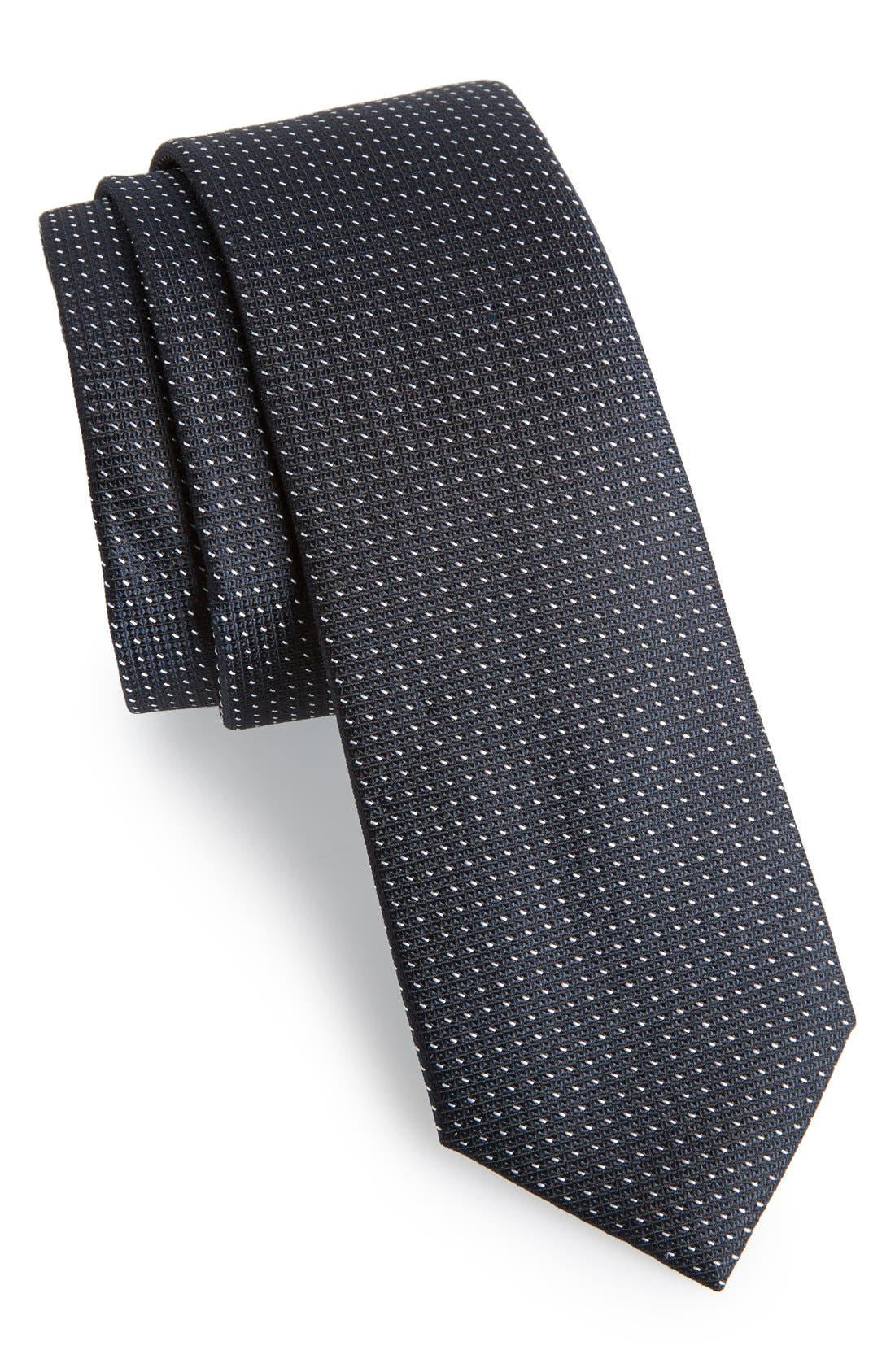 CALIBRATE, Dot Silk Tie, Main thumbnail 1, color, 001