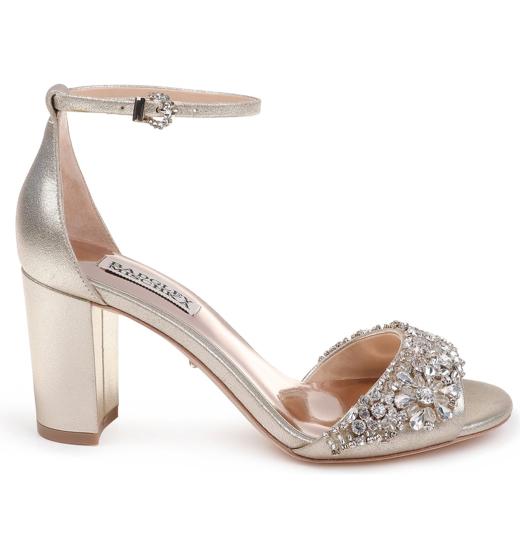 90e525f8254 Badgley Mischka Hines Embellished Block Heel Sandal (Women)