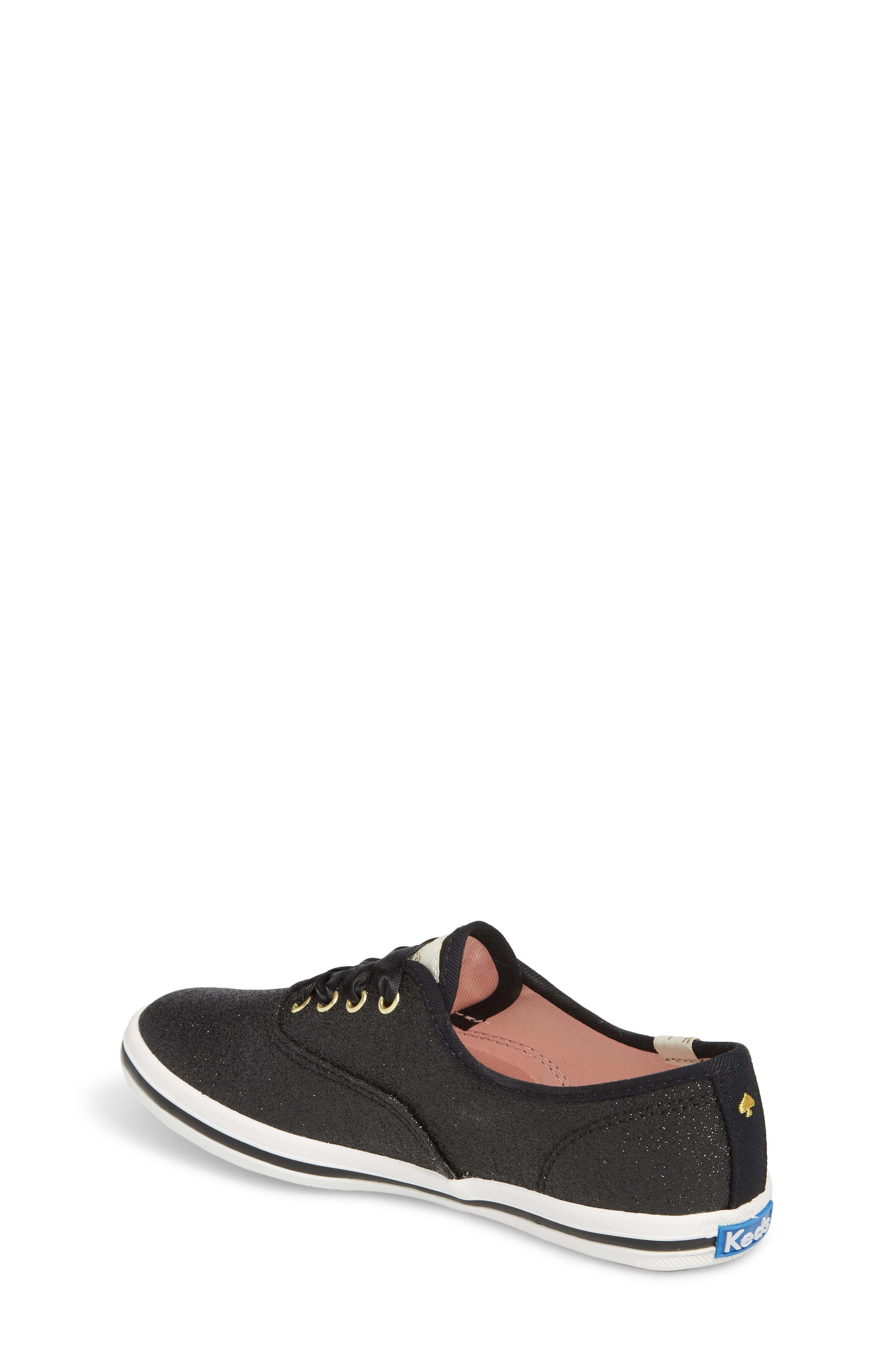 KEDS<SUP>®</SUP>, x kate spade new york Champion Glitter Sneaker, Alternate thumbnail 2, color, BLACK