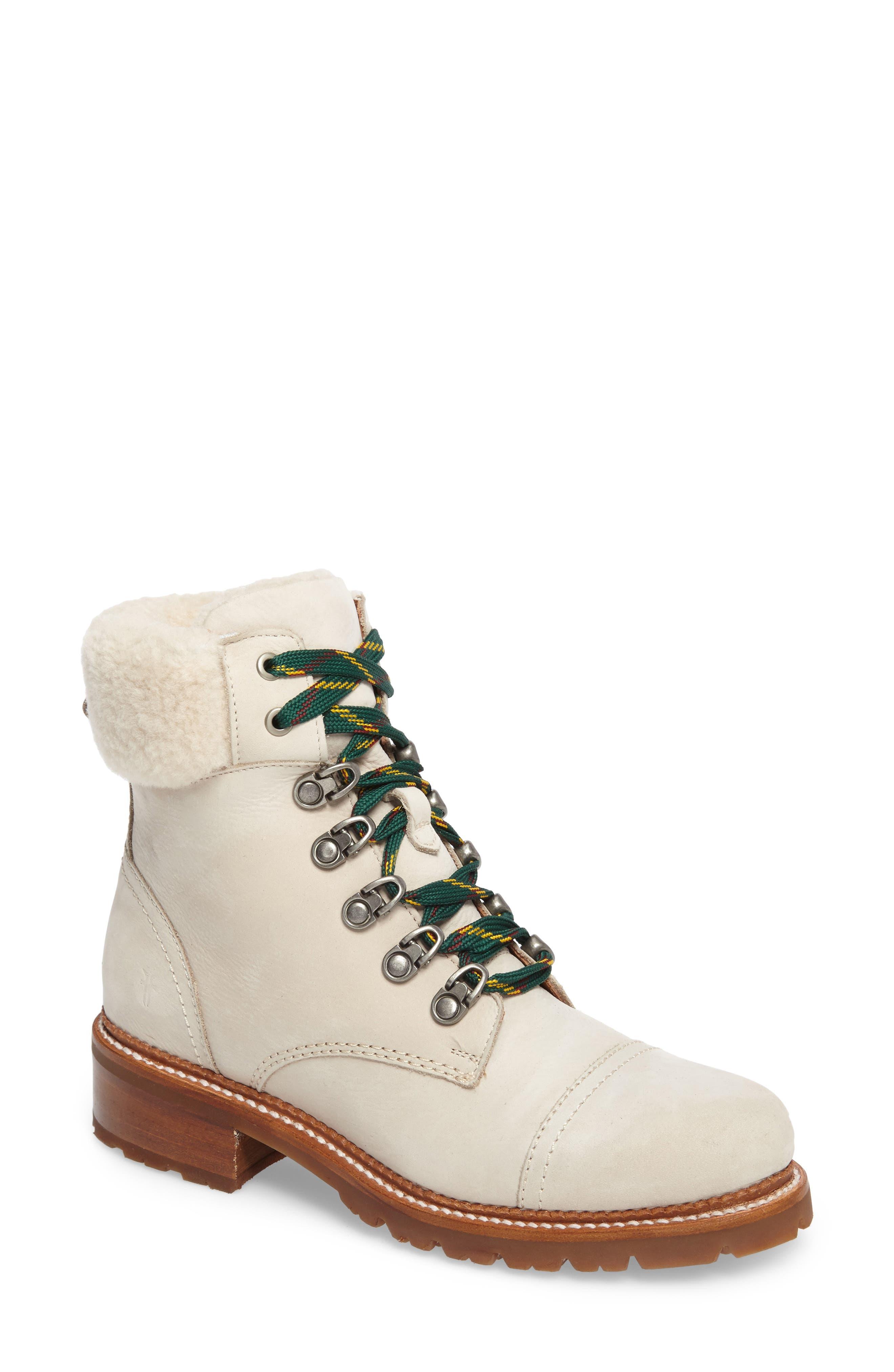 Frye Samantha Water Resistant Hiking Boot, White