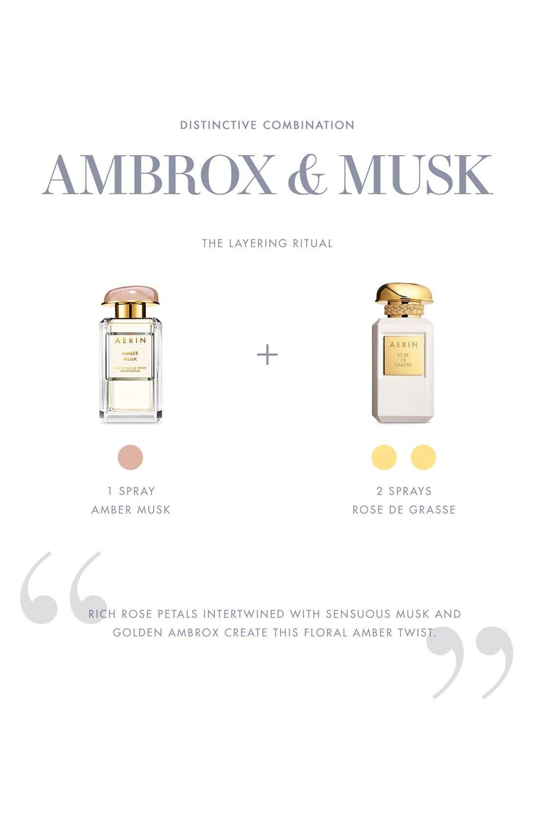ESTÉE LAUDER, AERIN Beauty Amber Musk Eau de Parfum Spray, Alternate thumbnail 4, color, NO COLOR