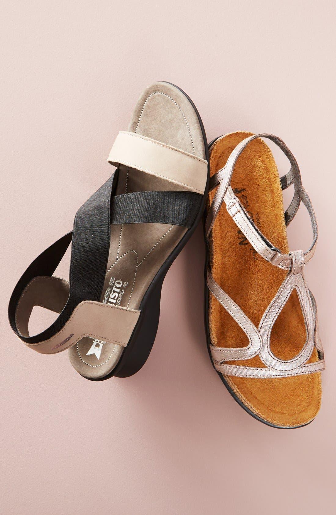 MEPHISTO, 'Pastora' Sandal, Alternate thumbnail 5, color, BLACK BUCKSOFT