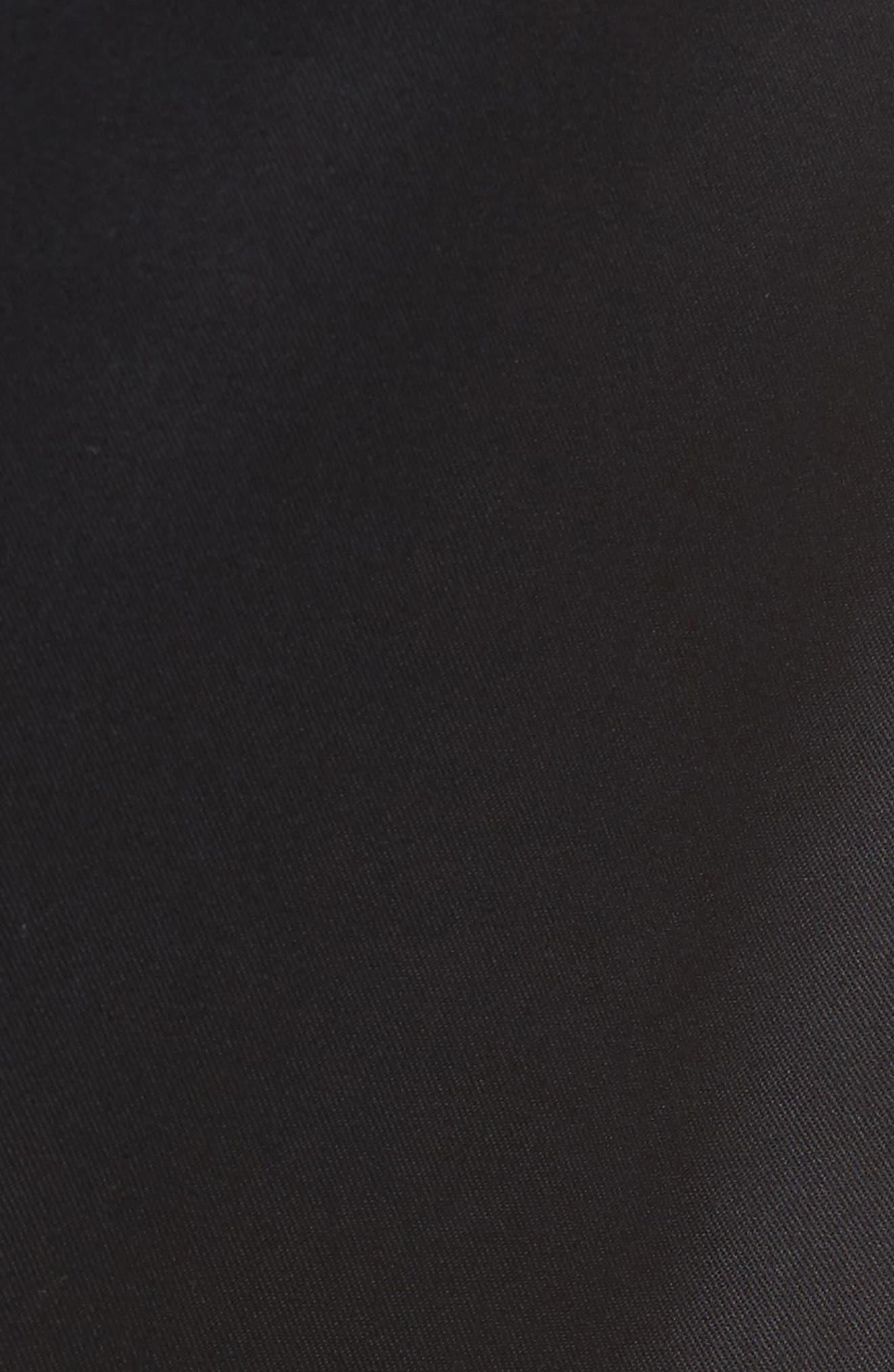 NORDSTROM MEN'S SHOP, Athletic Fit Non-Iron Chinos, Alternate thumbnail 6, color, BLACK CAVIAR