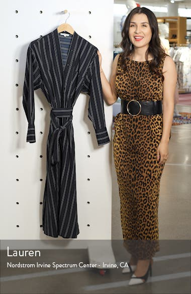Stripe Belted Midi Shirtdress, sales video thumbnail