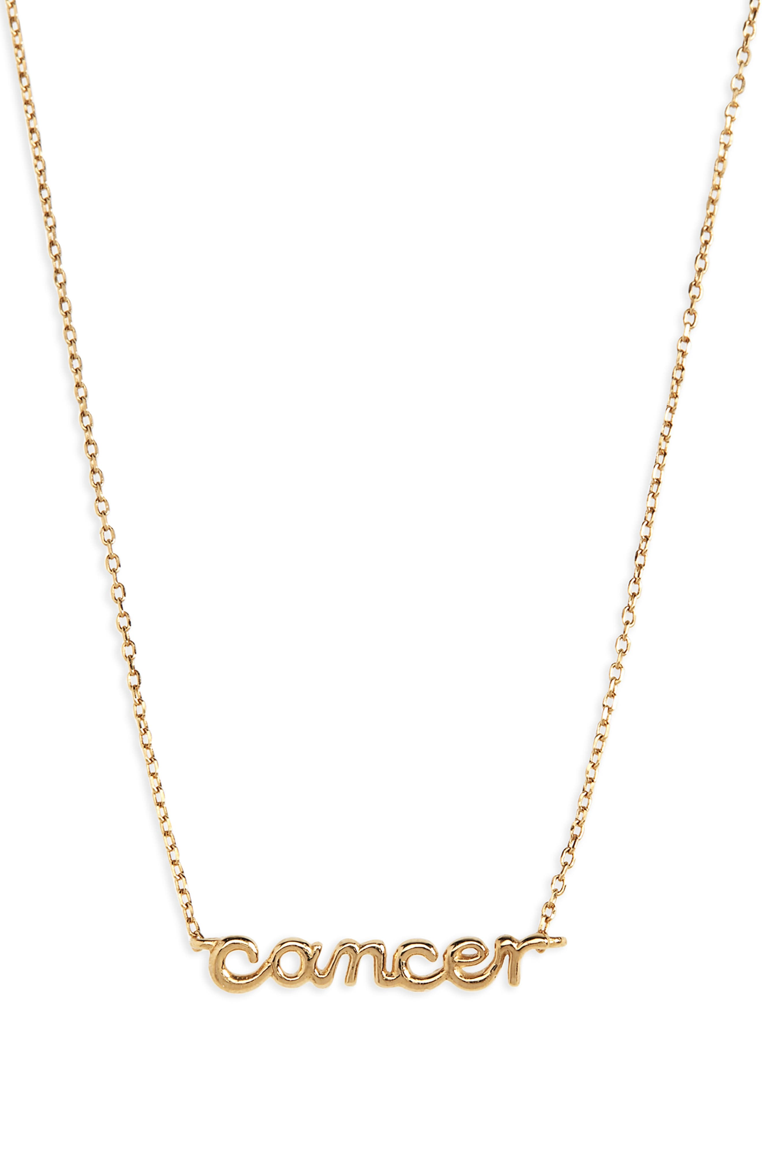 MADEWELL, Vermeil Astrological Sign Necklace, Main thumbnail 1, color, 710