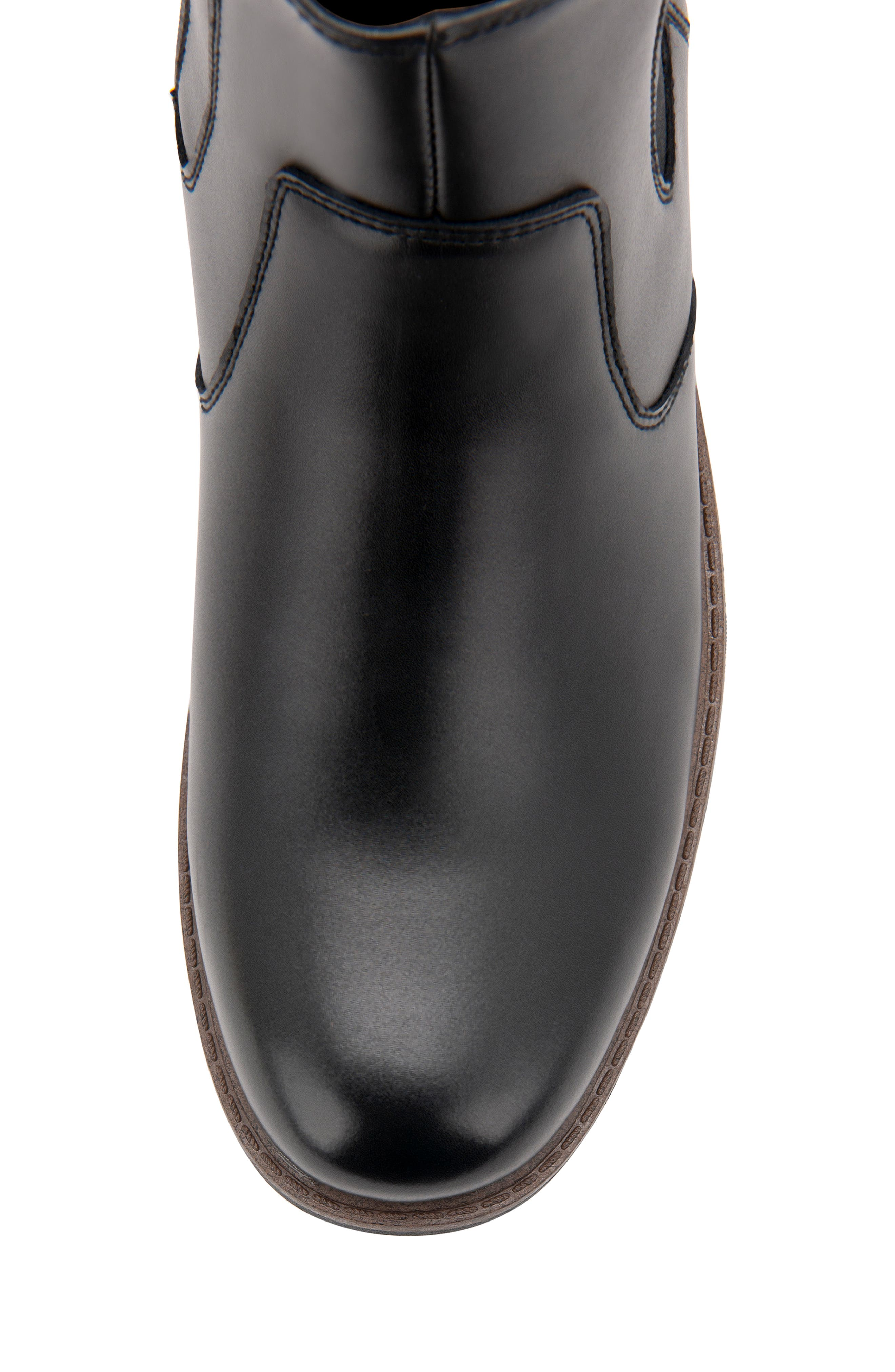 BLONDO, Shadow Waterproof Chelsea Boot, Alternate thumbnail 6, color, BLACK LEATHER