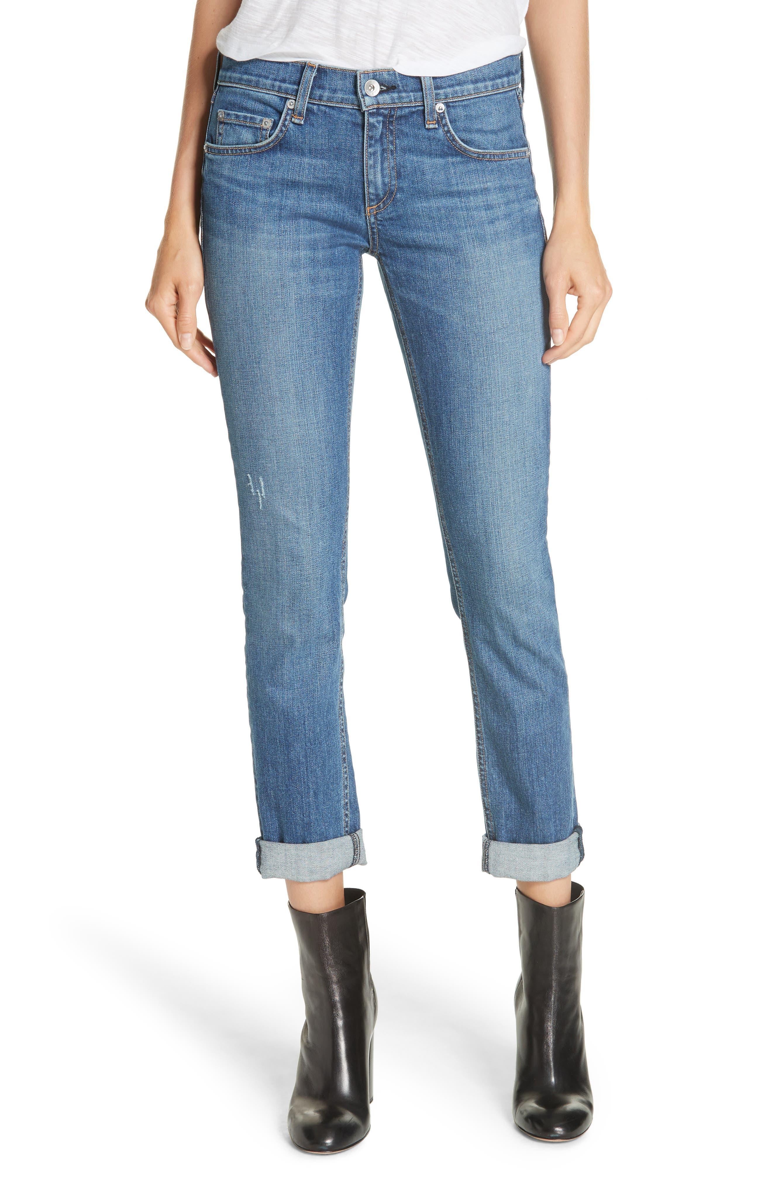 RAG & BONE Dre Slim Fit Boyfriend Jeans, Main, color, EL