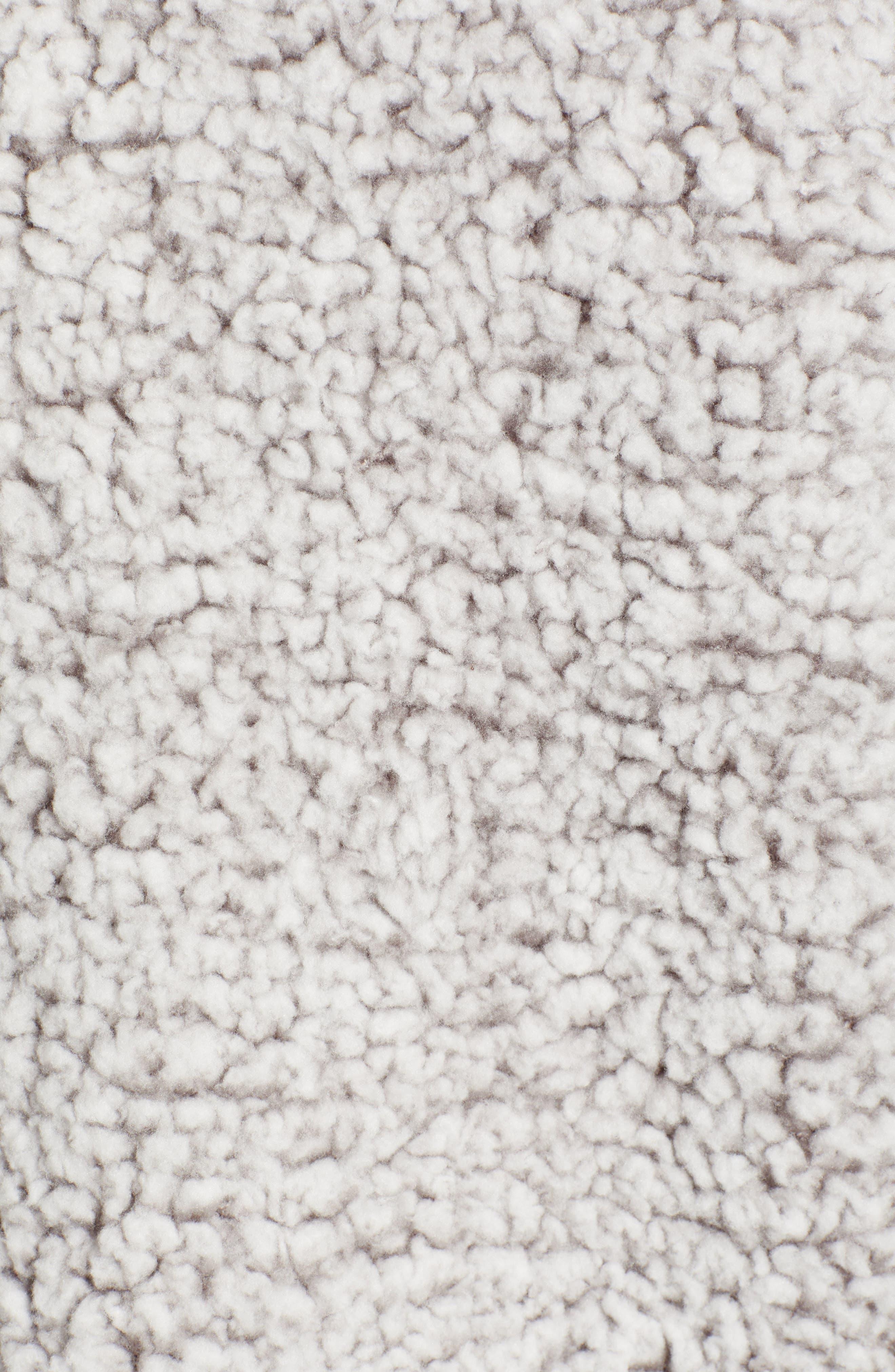 THREAD & SUPPLY, Quarter Zip Fleece Pullover, Alternate thumbnail 7, color, SILVER