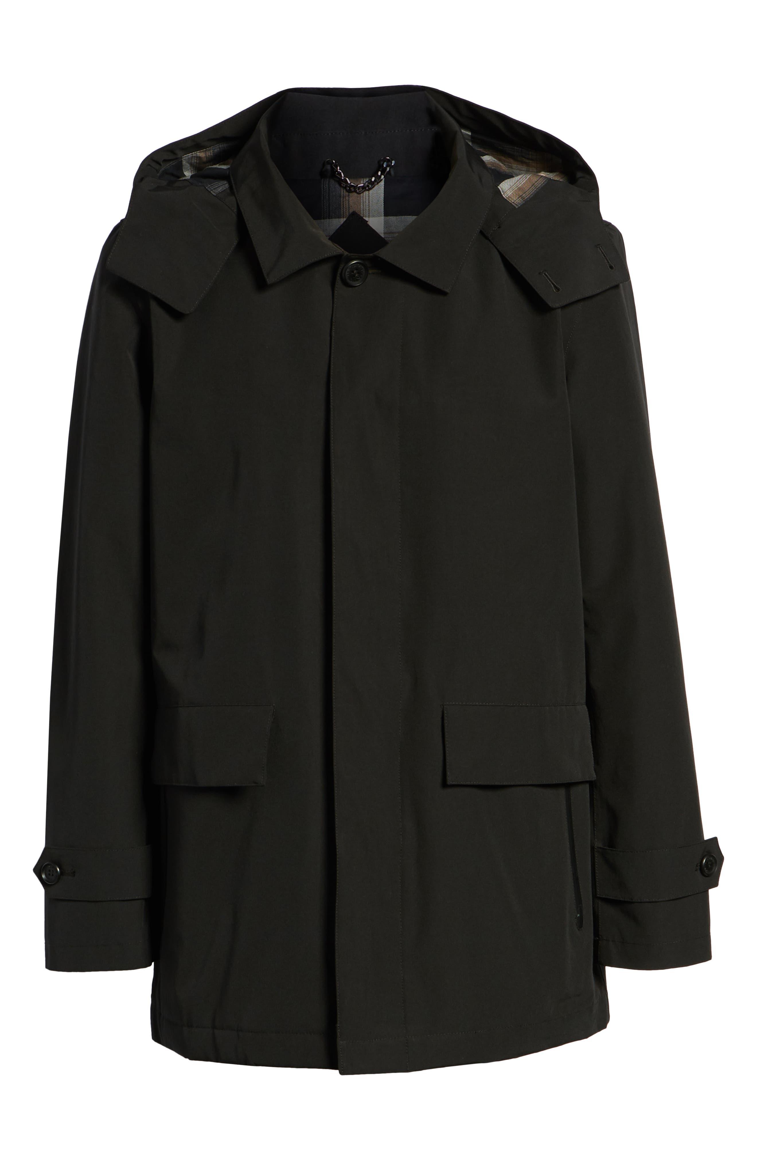 PENDLETON, Harbor Cloth Seattle Raincoat, Alternate thumbnail 6, color, BLACK