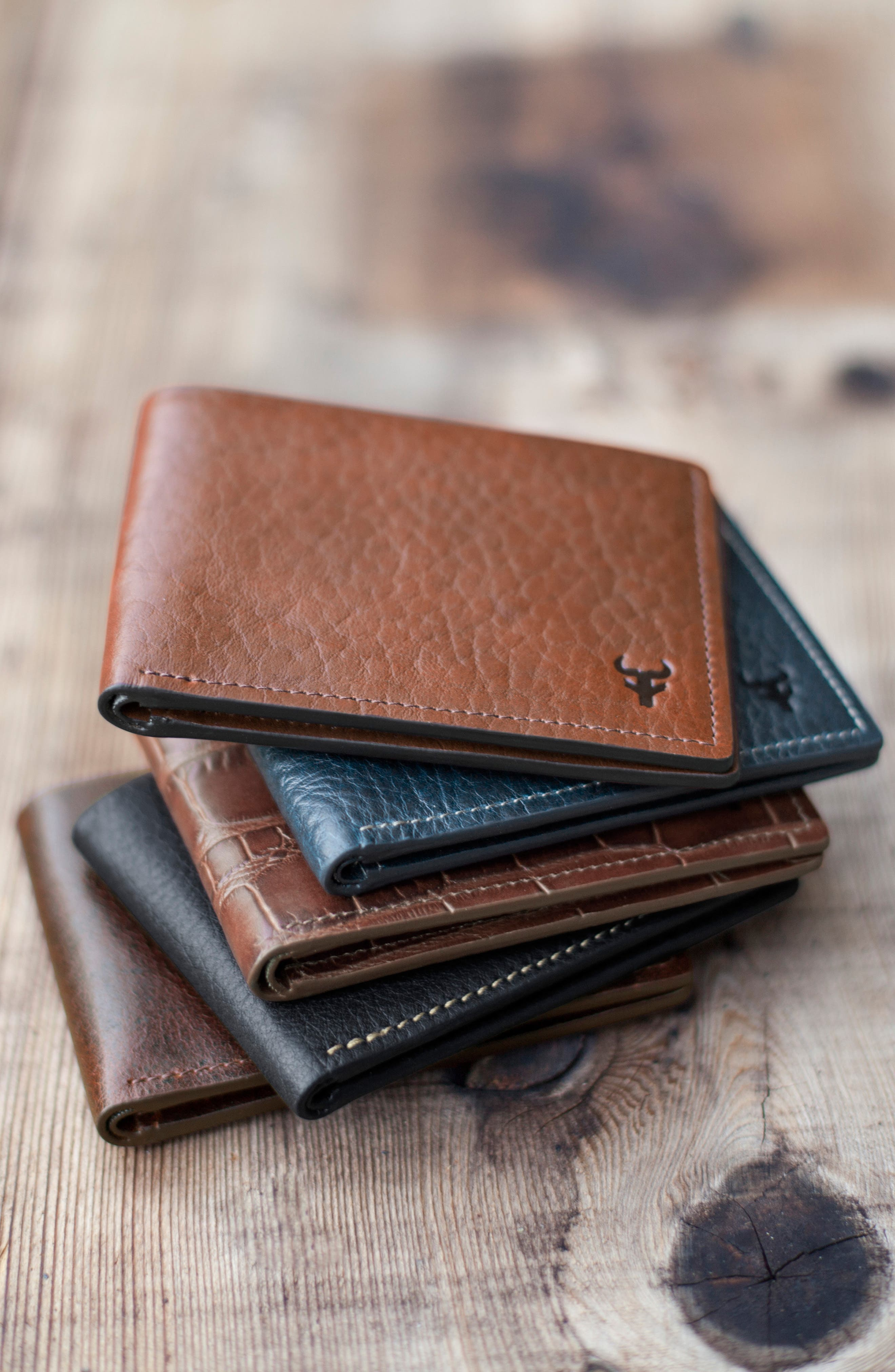 TRASK, 'Jackson' Super Slim Leather Wallet, Alternate thumbnail 2, color, SCOTCH