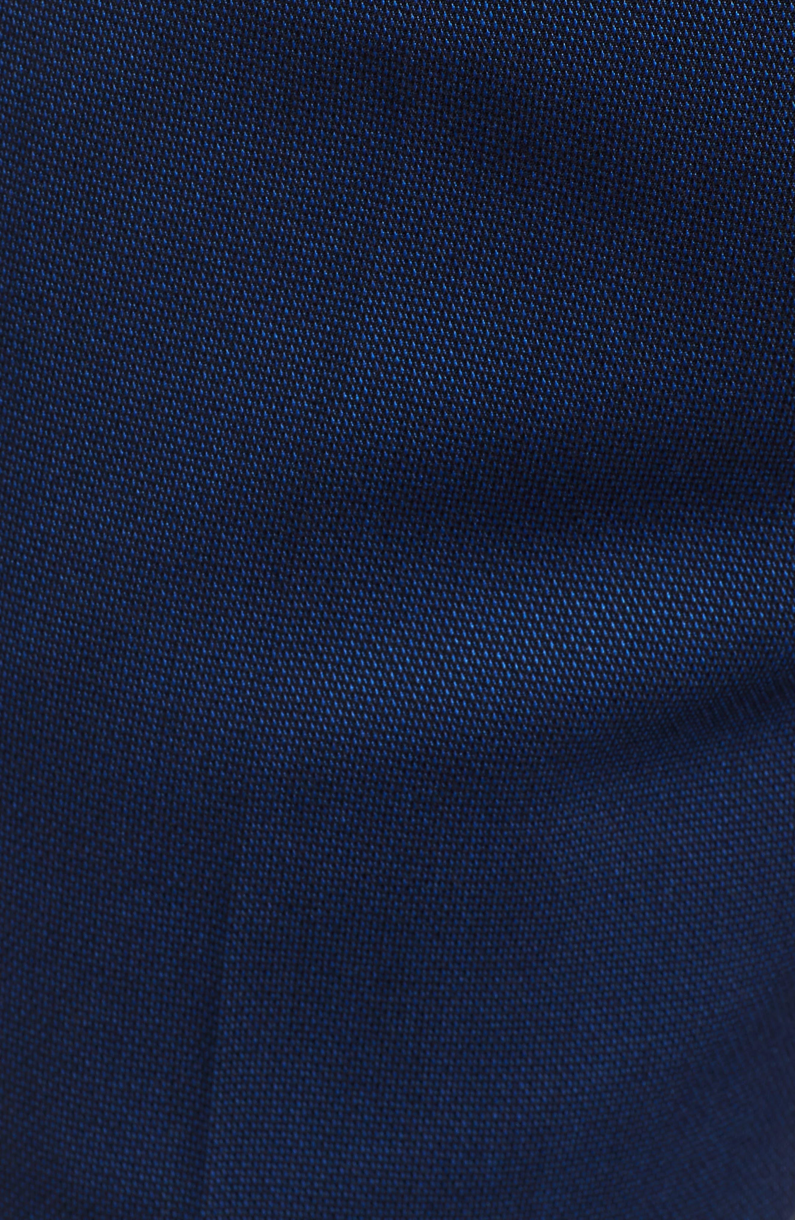 TOPMAN, Skinny Fit Suit Pants, Alternate thumbnail 6, color, MID BLUE