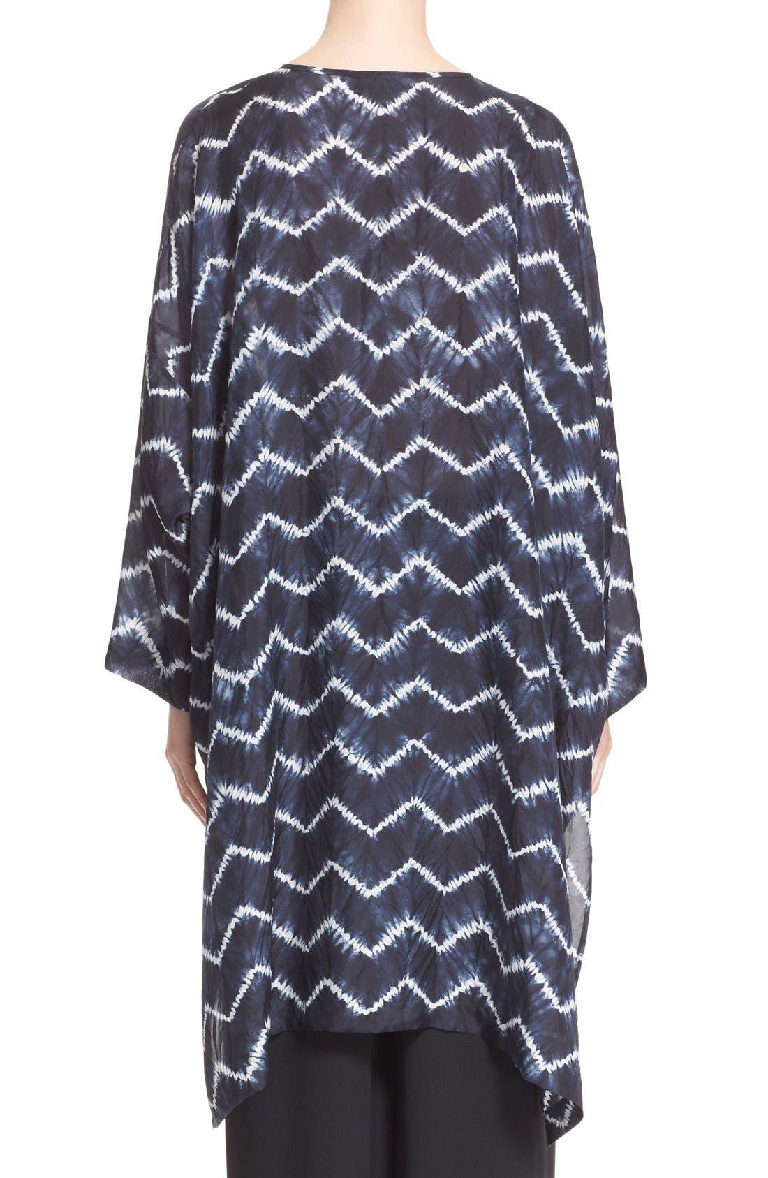 ESKANDAR, Chevron Shibori Silk Tunic, Alternate thumbnail 5, color, 411