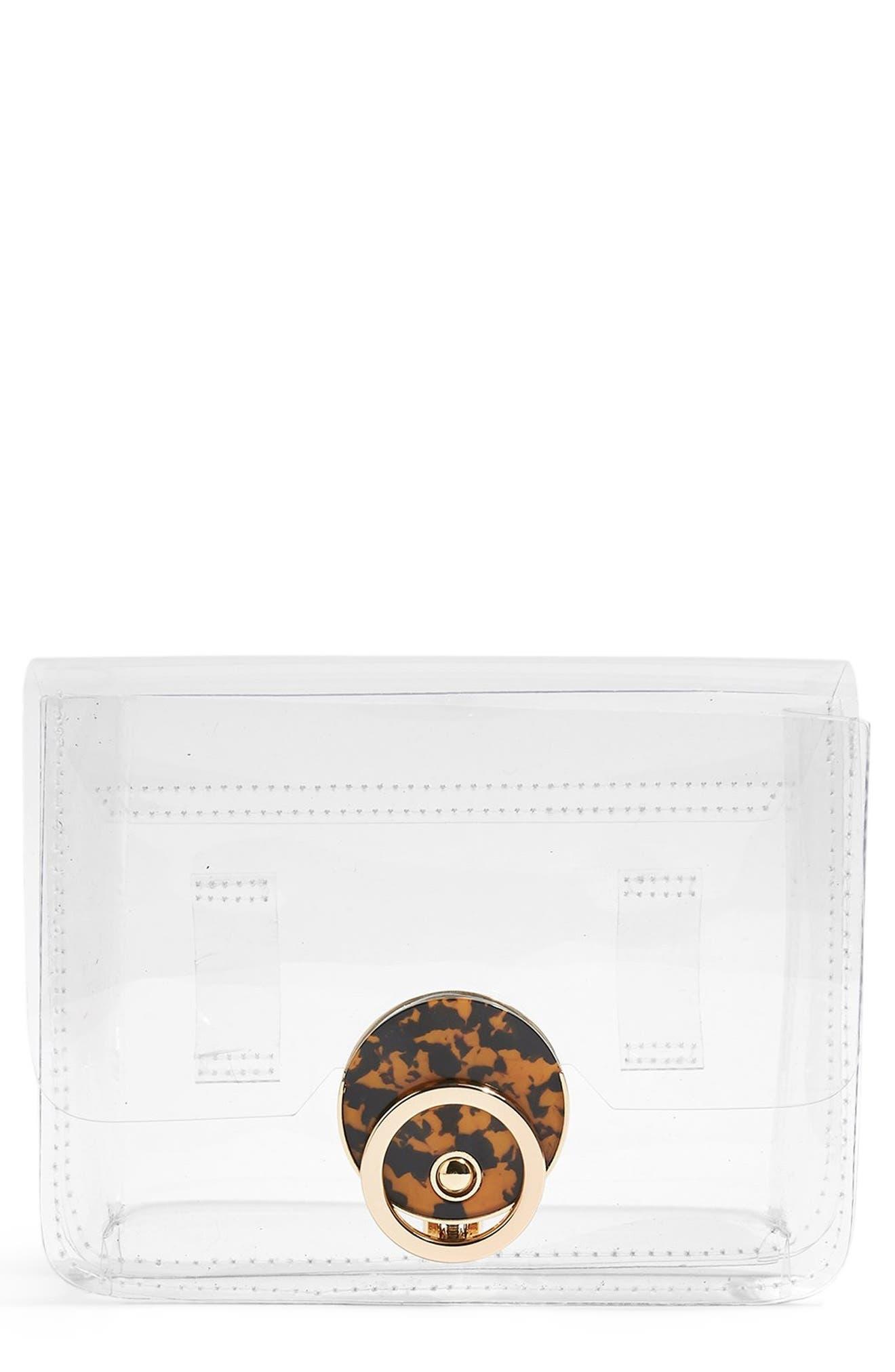 TOPSHOP, Dazzler Belt Bag, Main thumbnail 1, color, NO COLOR