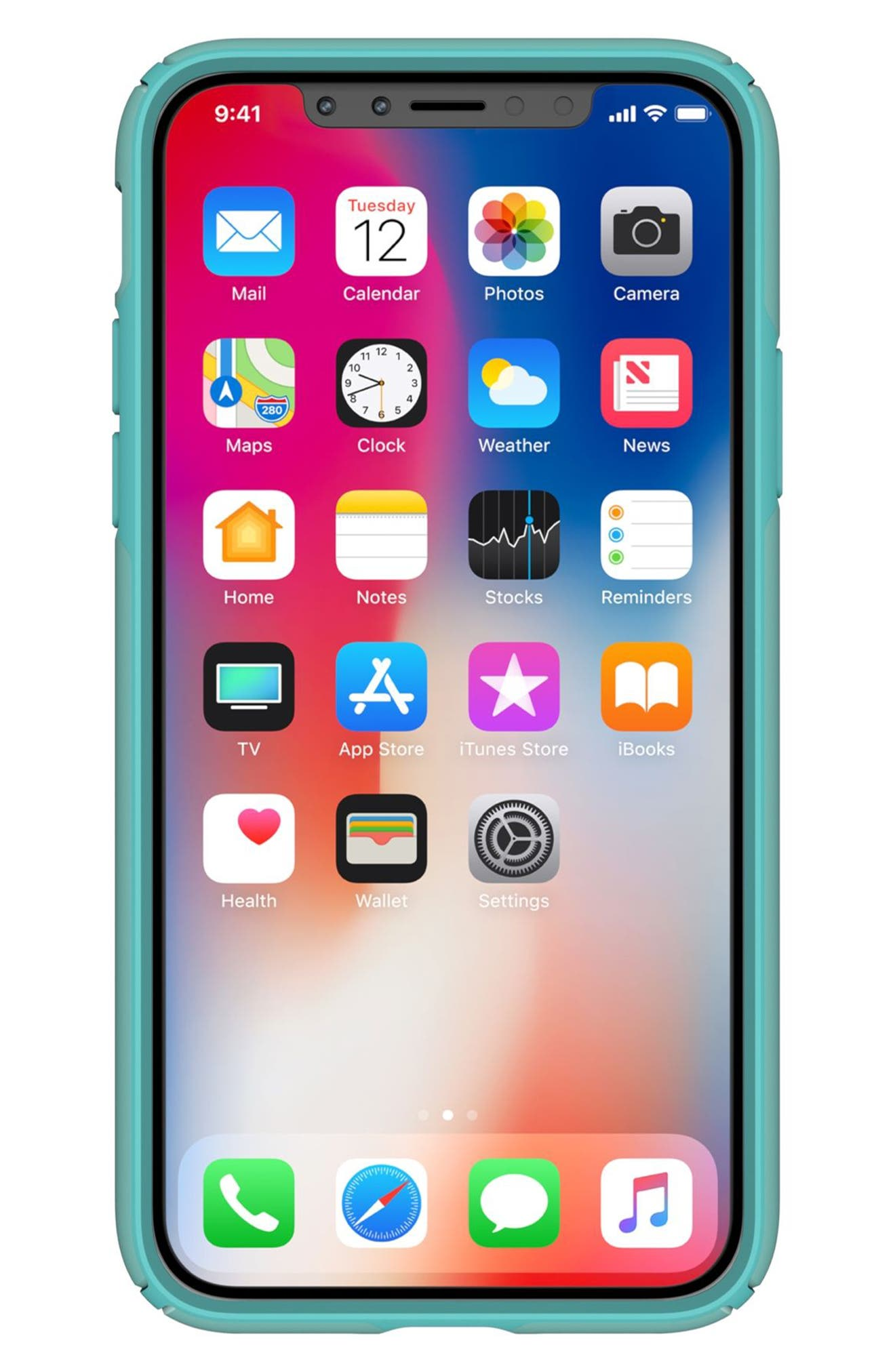 SPECK, iPhone X & Xs Case, Alternate thumbnail 3, color, PEPPERMINT GREEN / TEAL