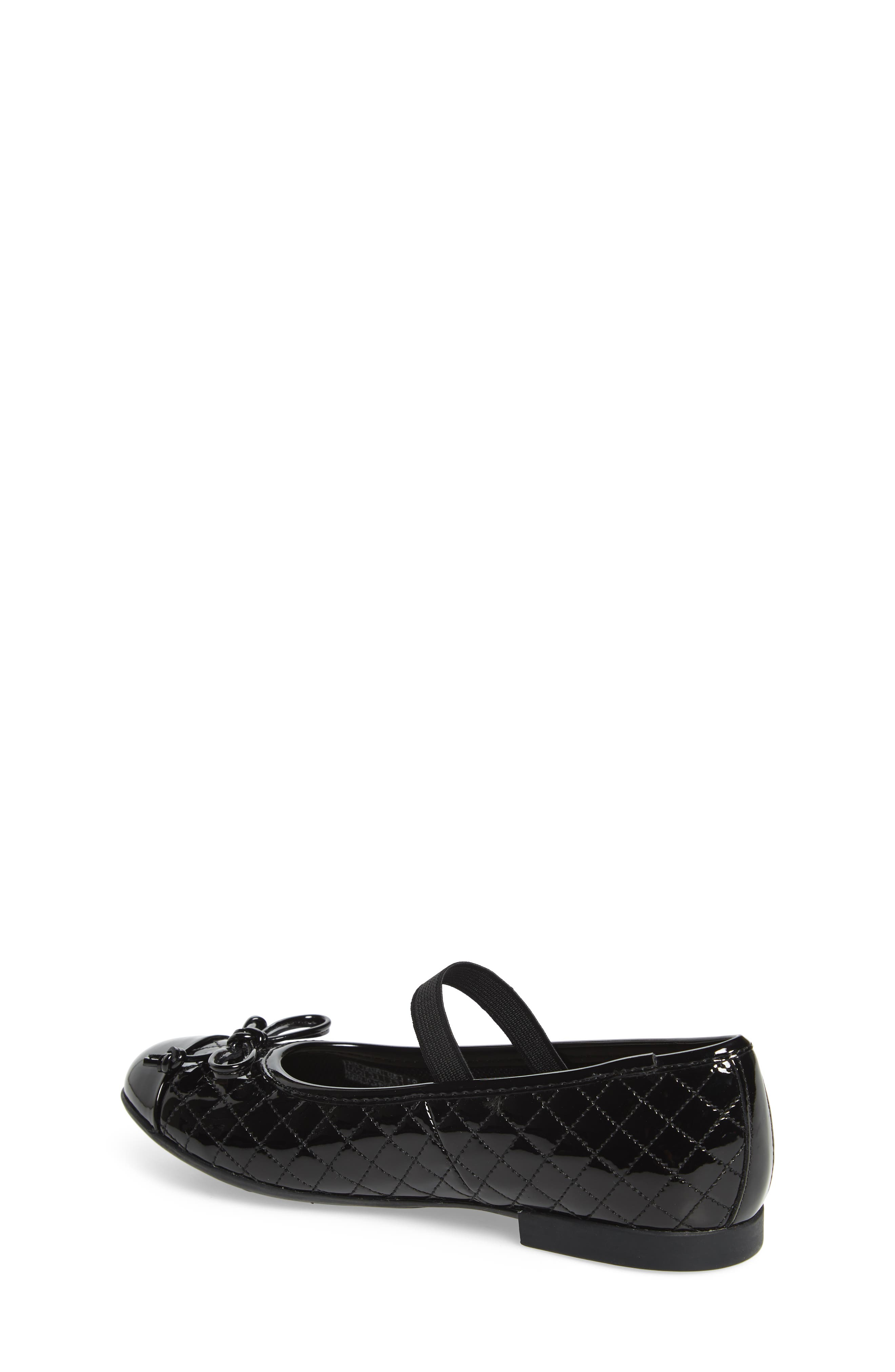 GEOX, 'Plie' Mary Jane Flat, Alternate thumbnail 2, color, BLACK/ BLACK
