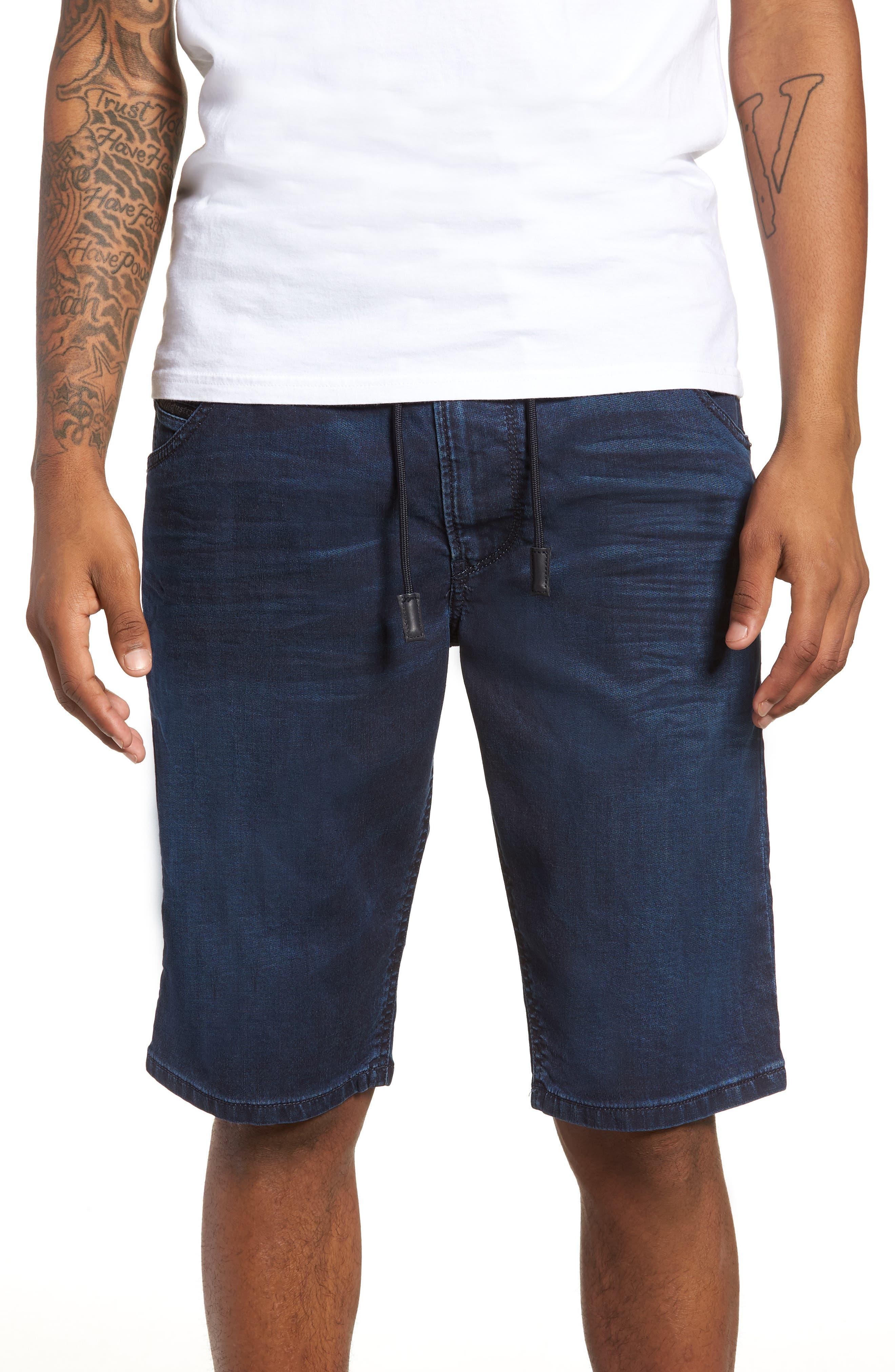 DIESEL<SUP>®</SUP>, Krooshort Denim Shorts, Main thumbnail 1, color, 400
