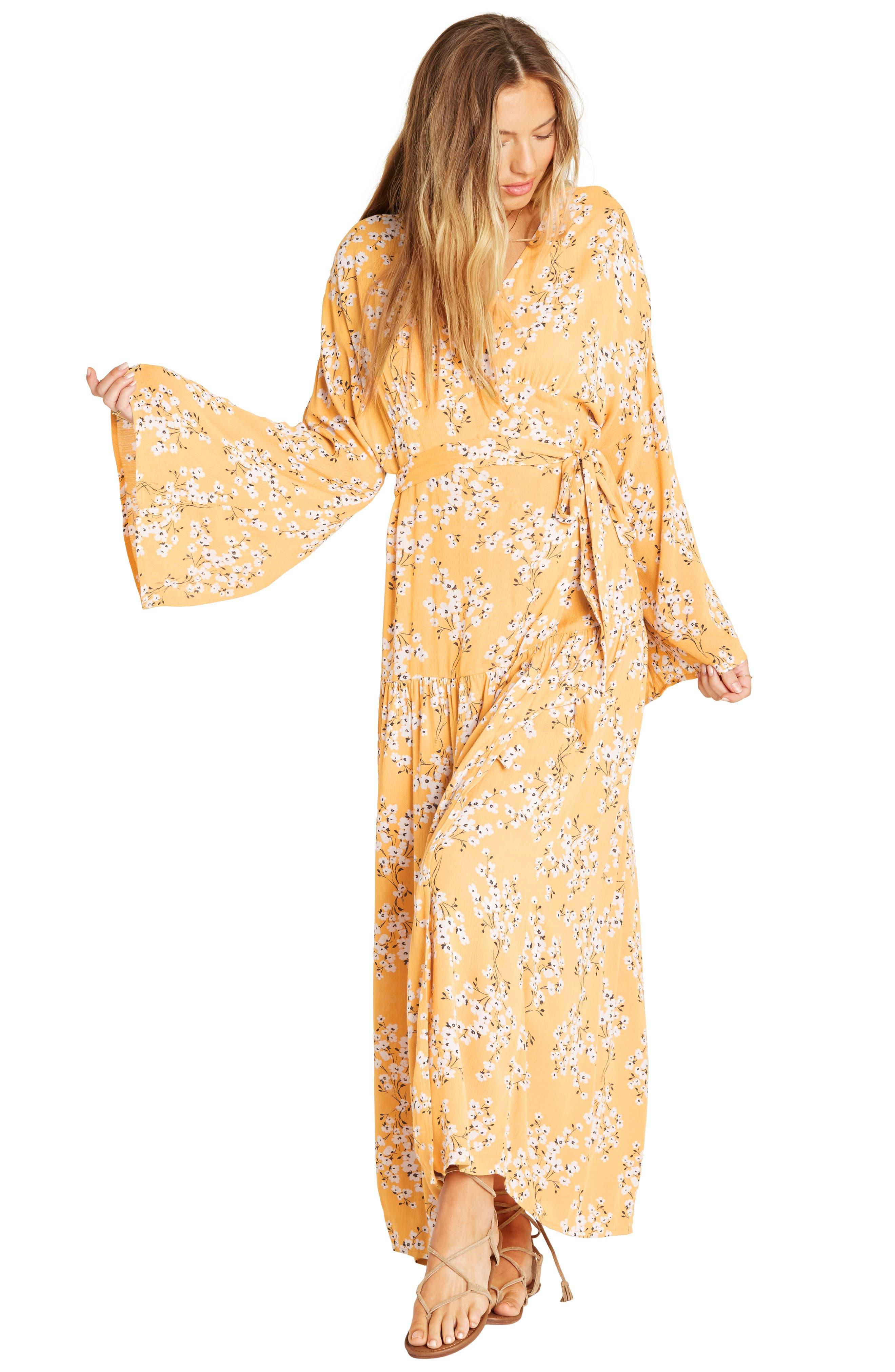 BILLABONG, My Favorite Maxi Dress, Alternate thumbnail 5, color, GOLDEN HOUR